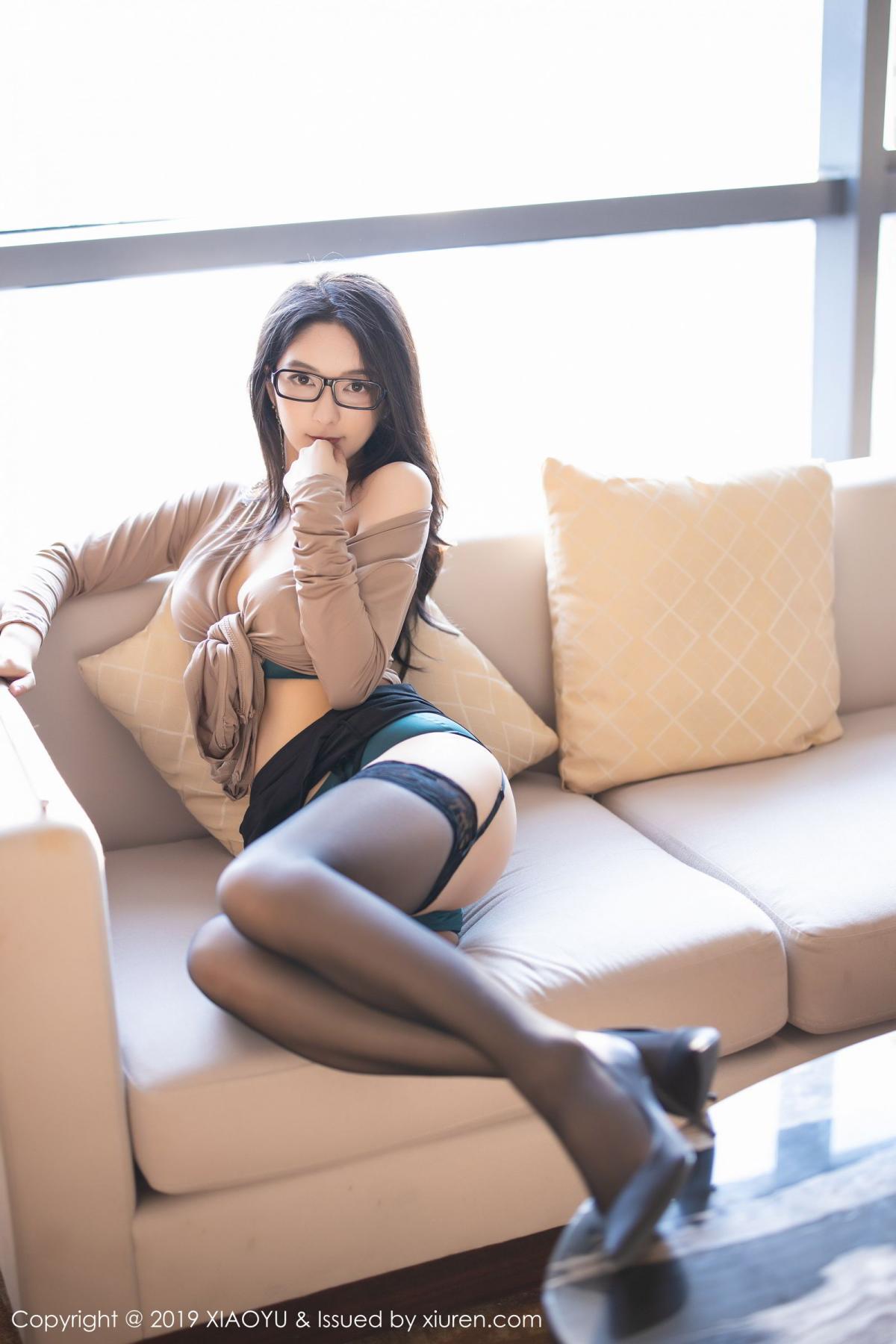 [XiaoYu] Vol.154 Di Yi 57P, Black Silk, Di Yi, Underwear, XiaoYu