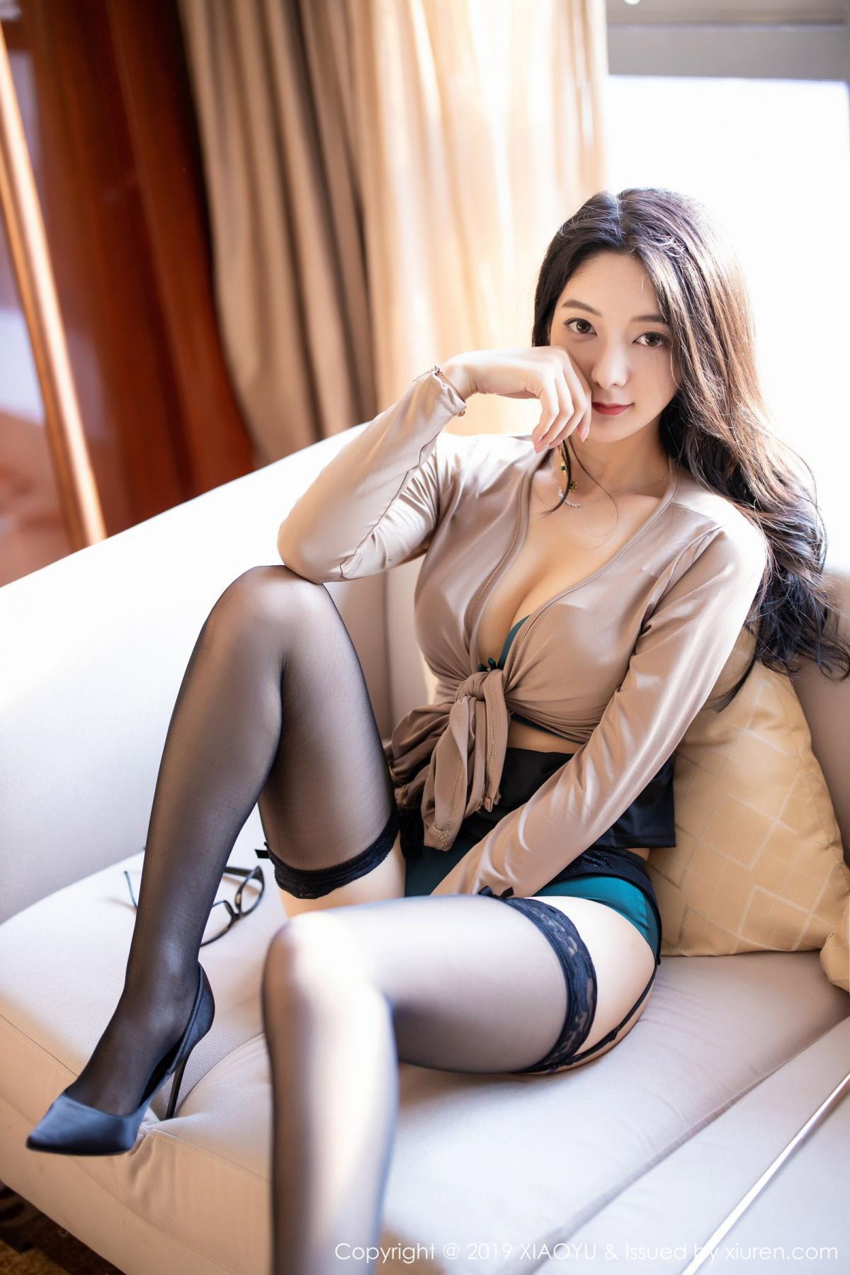 [XiaoYu] Vol.154 Di Yi 58P, Black Silk, Di Yi, Underwear, XiaoYu