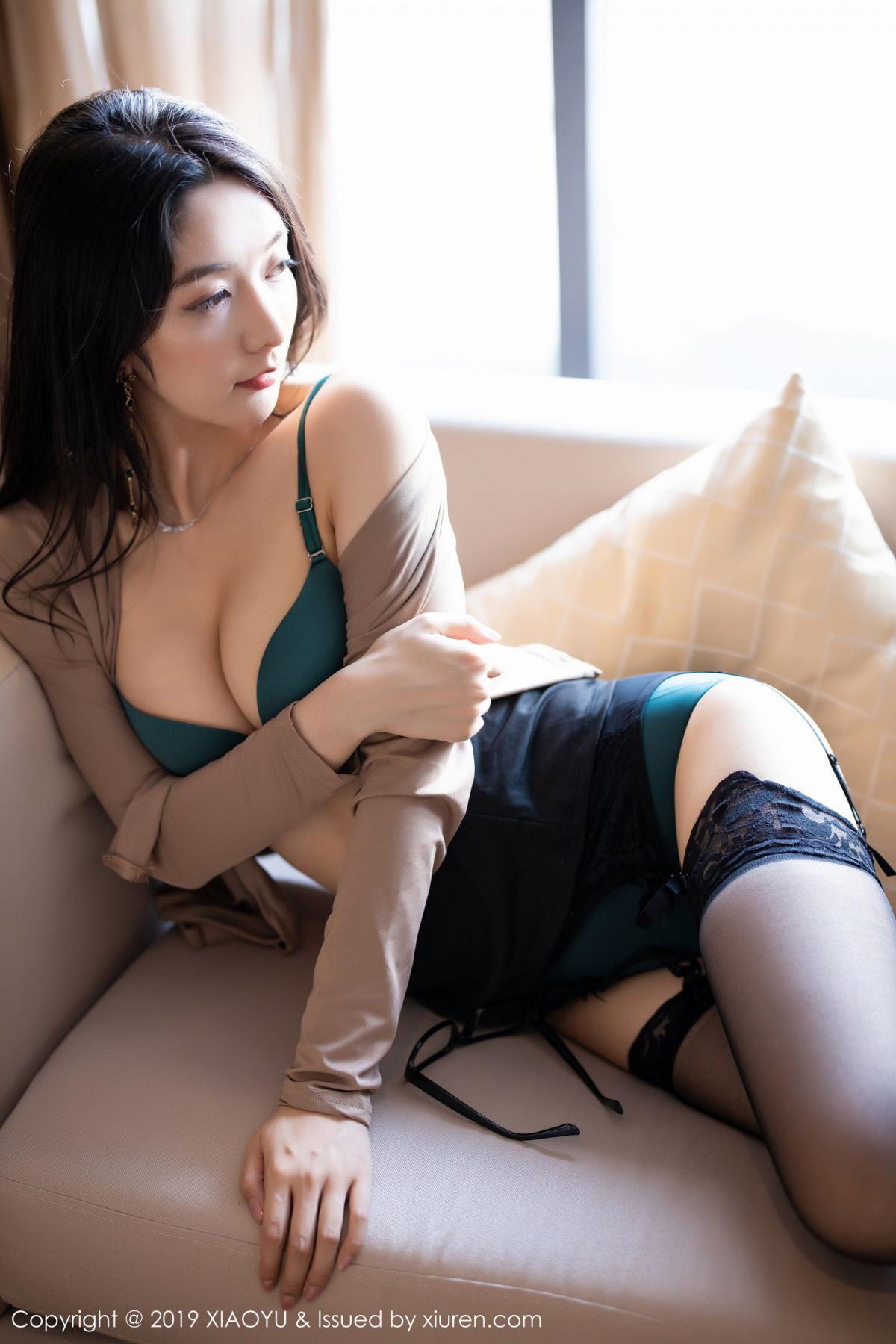 [XiaoYu] Vol.154 Di Yi 65P, Black Silk, Di Yi, Underwear, XiaoYu
