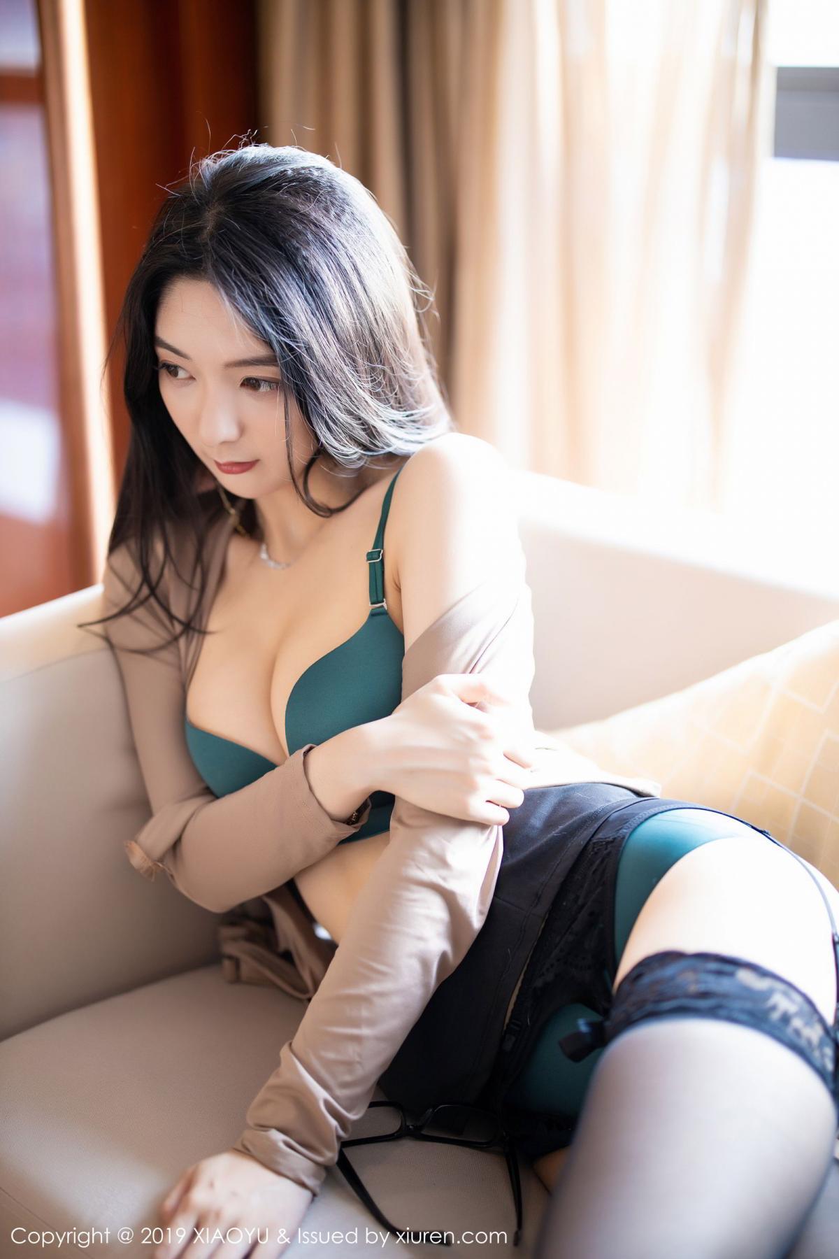 [XiaoYu] Vol.154 Di Yi 66P, Black Silk, Di Yi, Underwear, XiaoYu