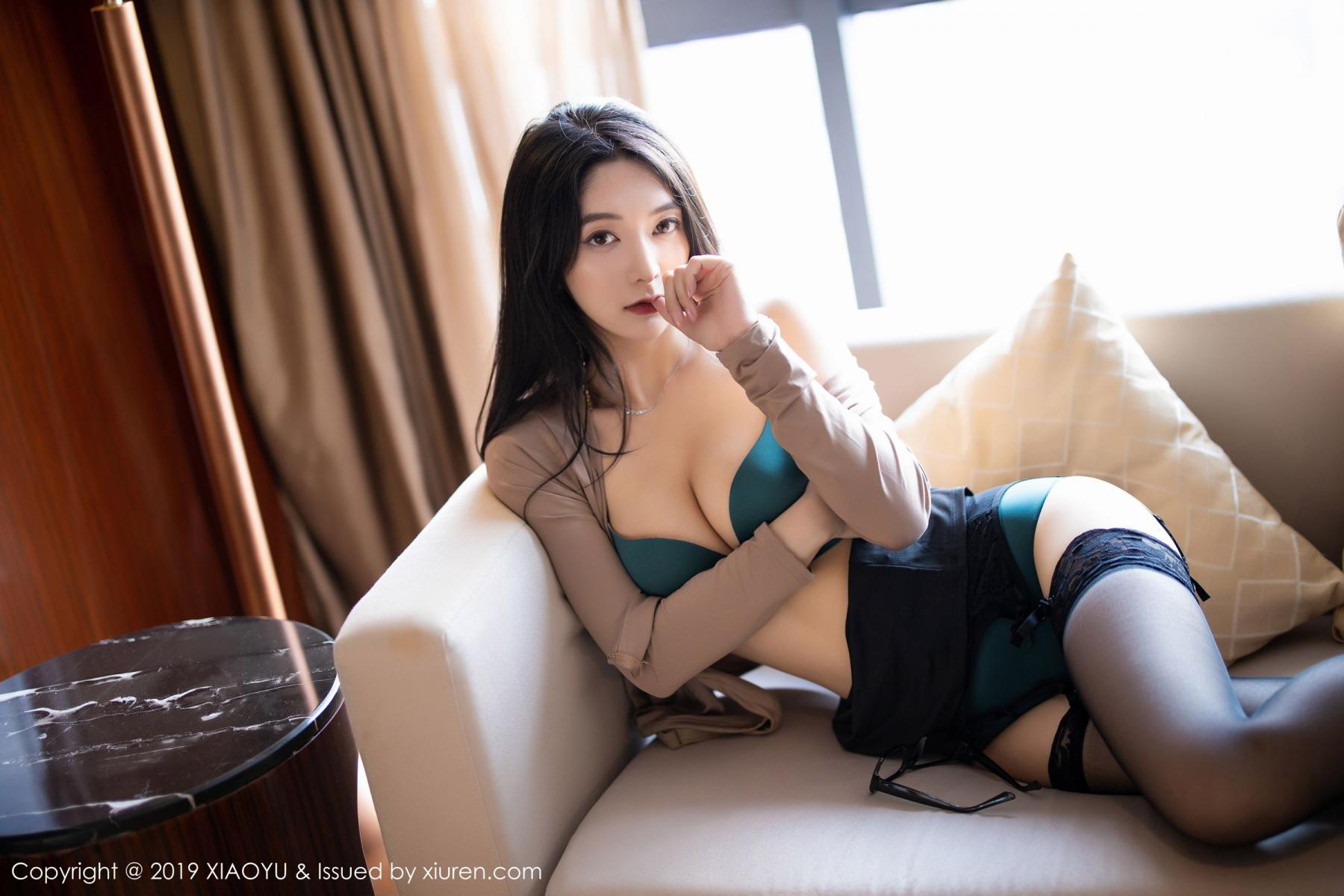 [XiaoYu] Vol.154 Di Yi 67P, Black Silk, Di Yi, Underwear, XiaoYu