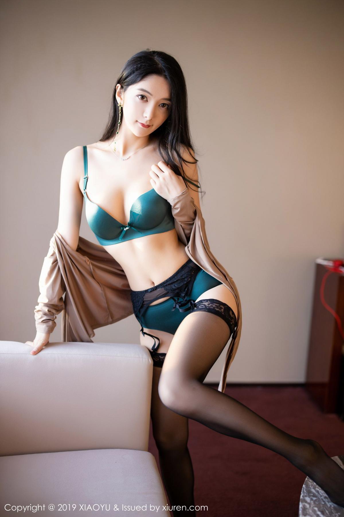 [XiaoYu] Vol.154 Di Yi 80P, Black Silk, Di Yi, Underwear, XiaoYu