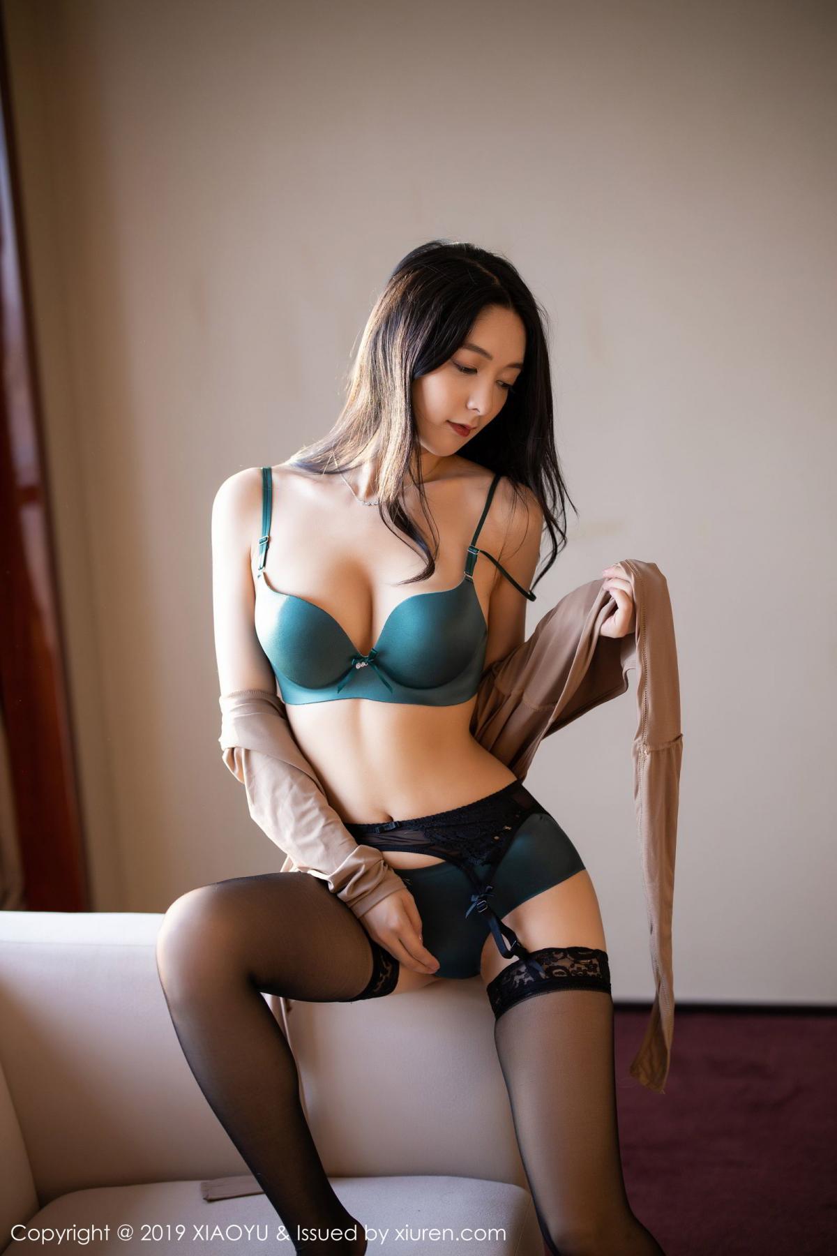 [XiaoYu] Vol.154 Di Yi 82P, Black Silk, Di Yi, Underwear, XiaoYu