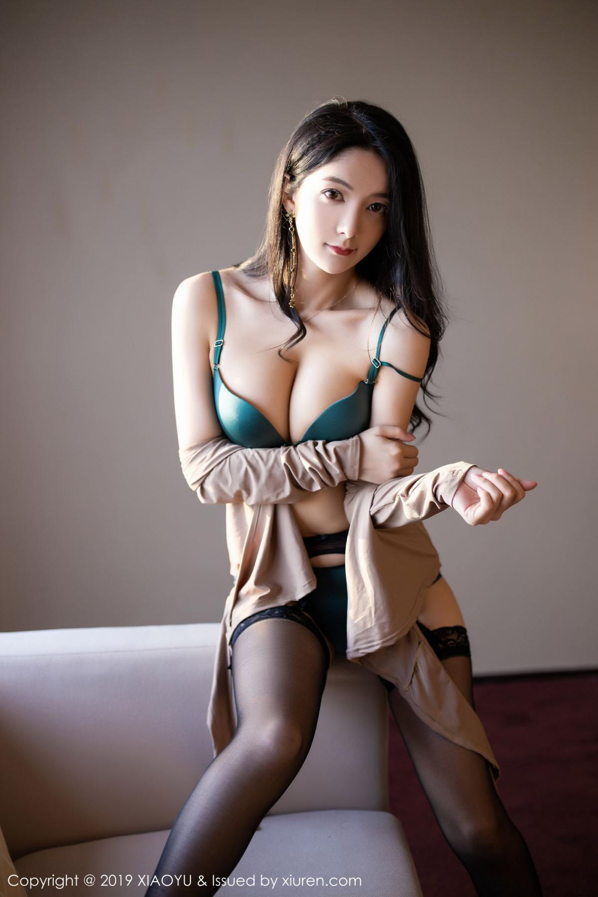 [XiaoYu] Vol.154 Di Yi 84P, Black Silk, Di Yi, Underwear, XiaoYu