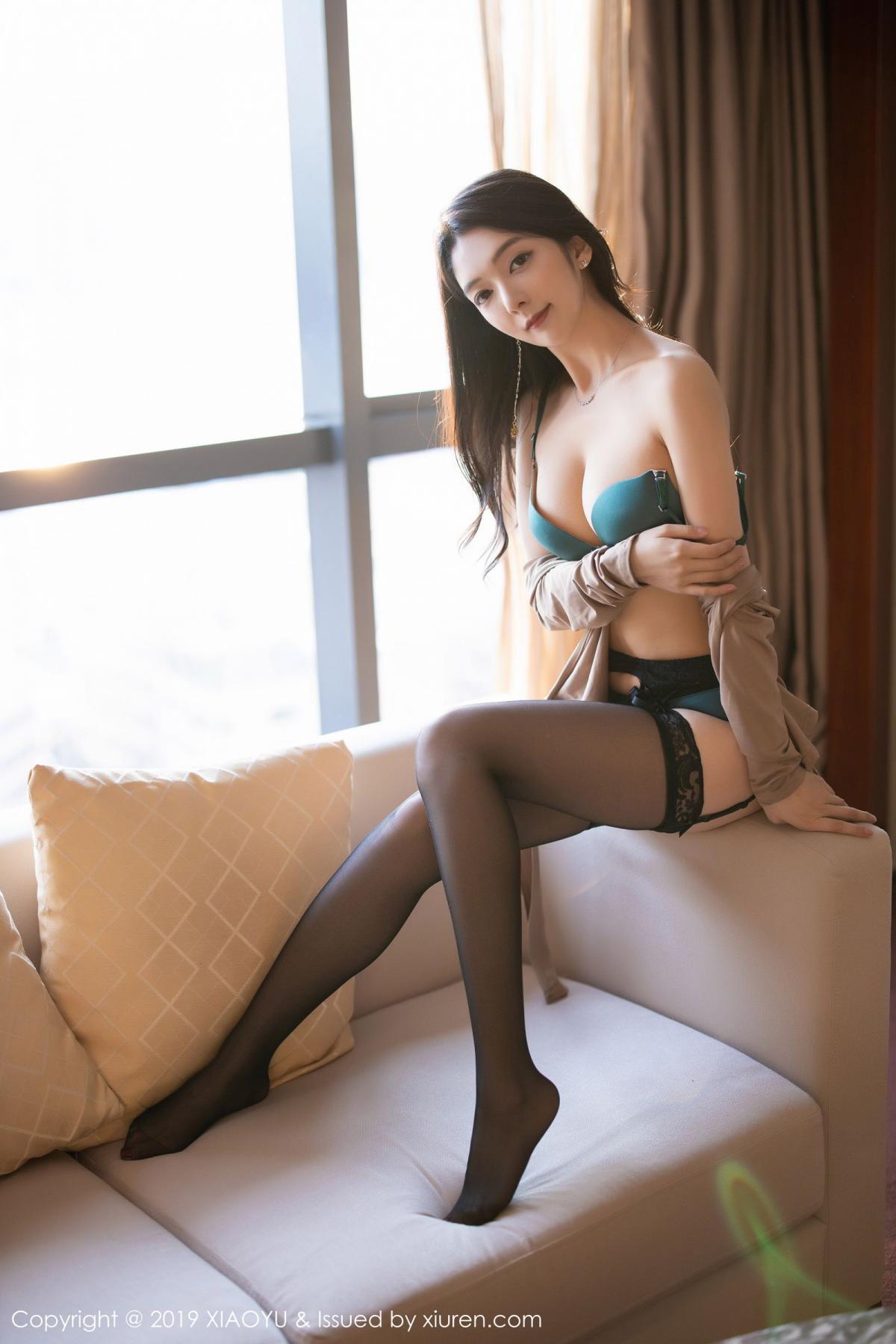 [XiaoYu] Vol.154 Di Yi 85P, Black Silk, Di Yi, Underwear, XiaoYu