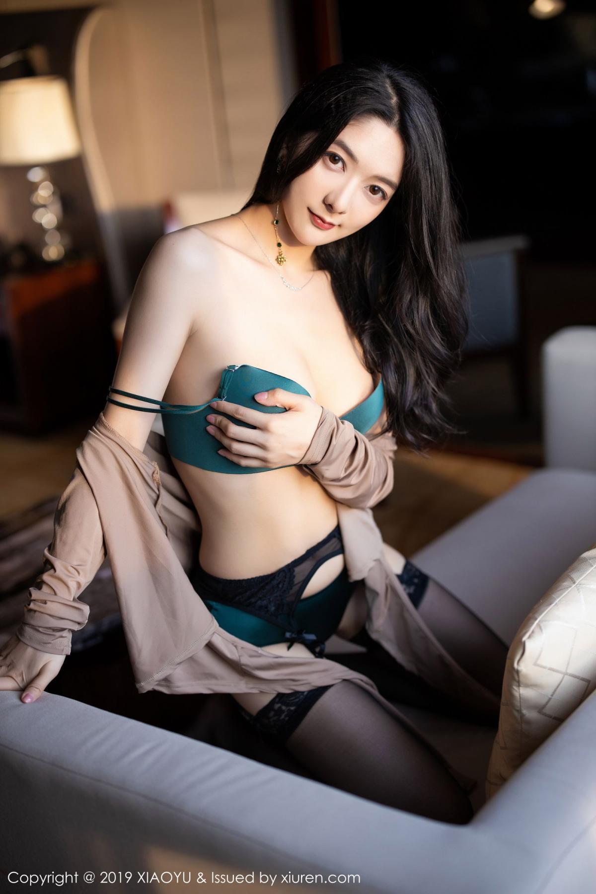 [XiaoYu] Vol.154 Di Yi 92P, Black Silk, Di Yi, Underwear, XiaoYu