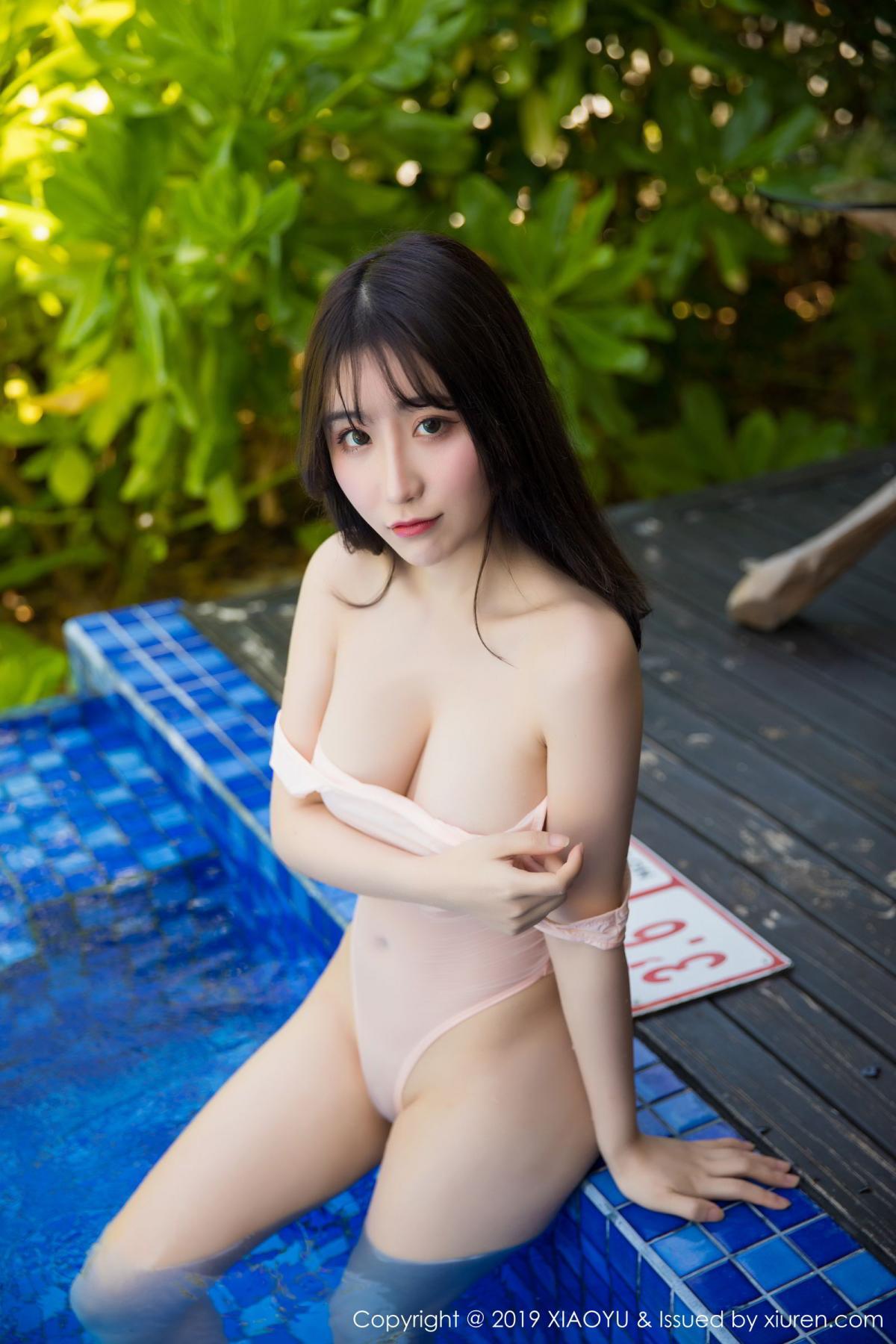 [XiaoYu] Vol.155 Xie Zhi Xin 40P, Bathroom, Big Booty, Wet, XiaoYu, Xie Zhi Xin