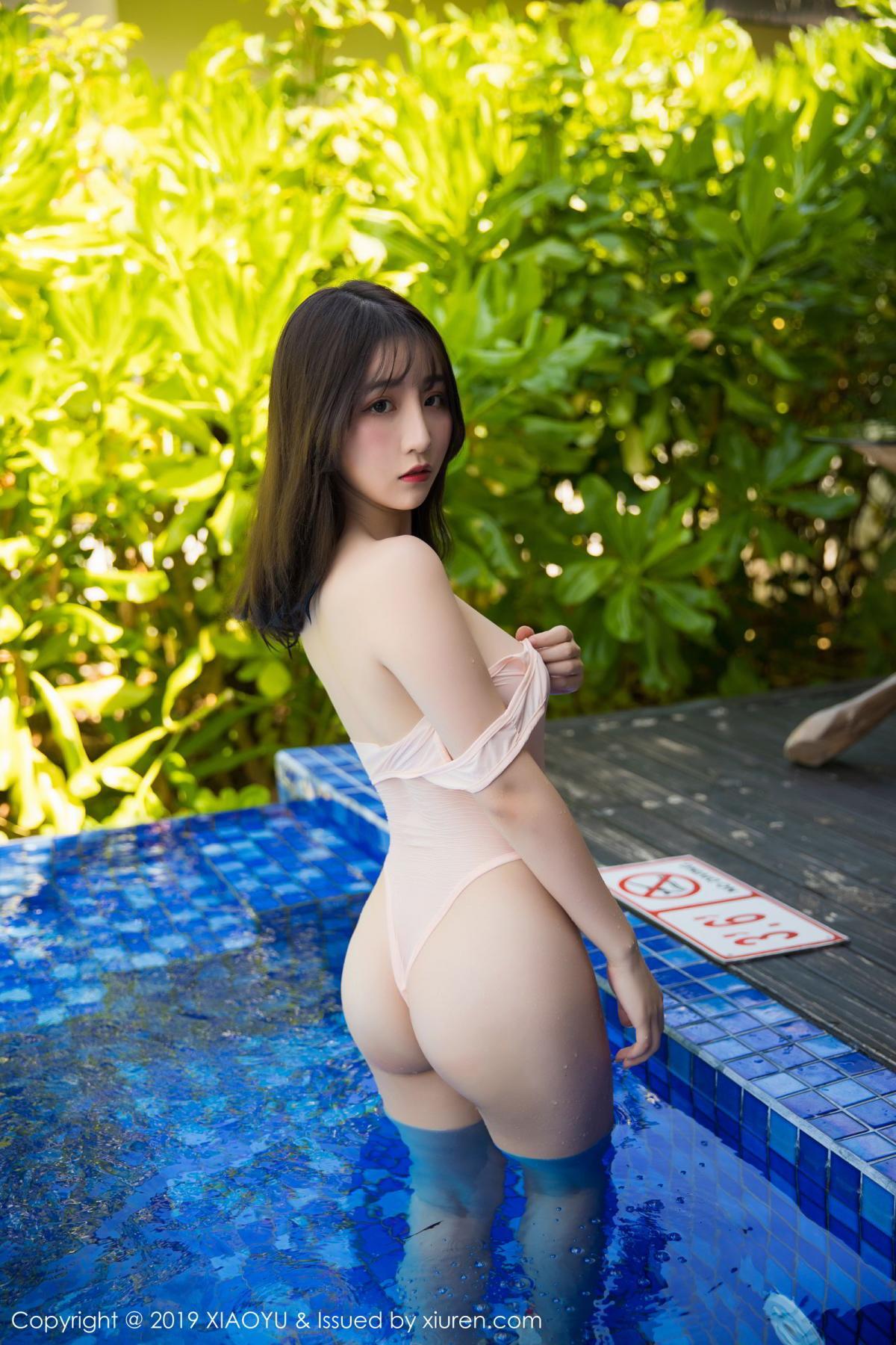 [XiaoYu] Vol.155 Xie Zhi Xin 44P, Bathroom, Big Booty, Wet, XiaoYu, Xie Zhi Xin