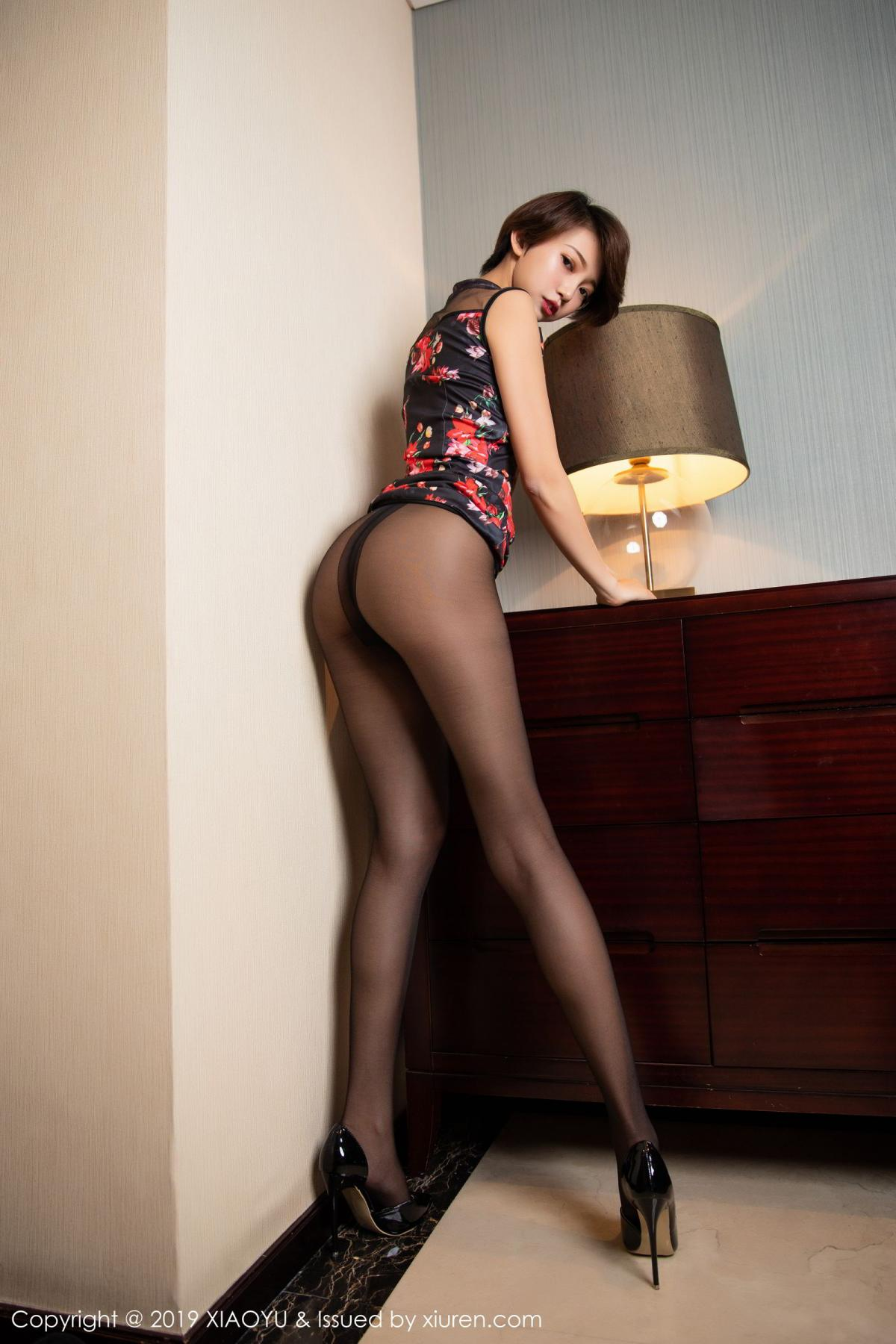 [XiaoYu] Vol.158 Feng Mu Mu 11P, Black Silk, Feng Mu Mu, Tall, Underwear, XiaoYu