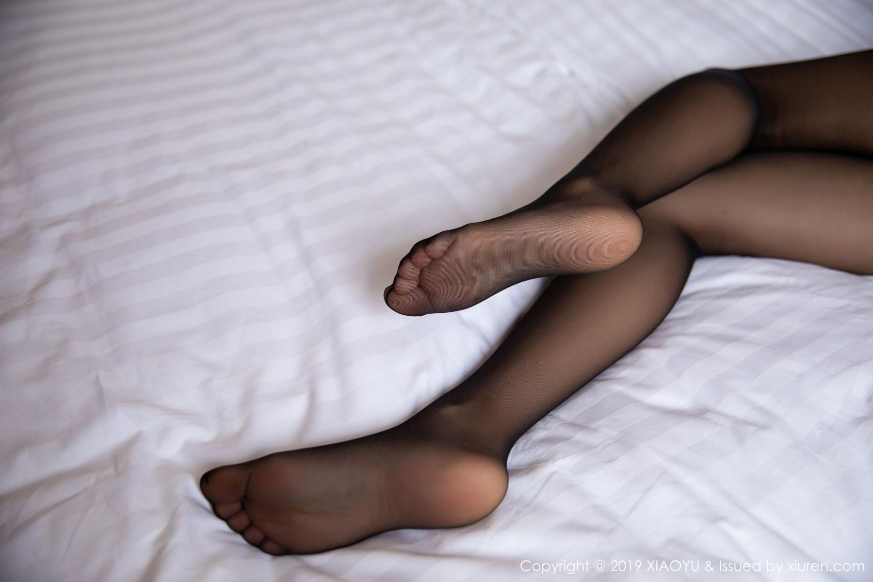 [XiaoYu] Vol.158 Feng Mu Mu 26P, Black Silk, Feng Mu Mu, Tall, Underwear, XiaoYu