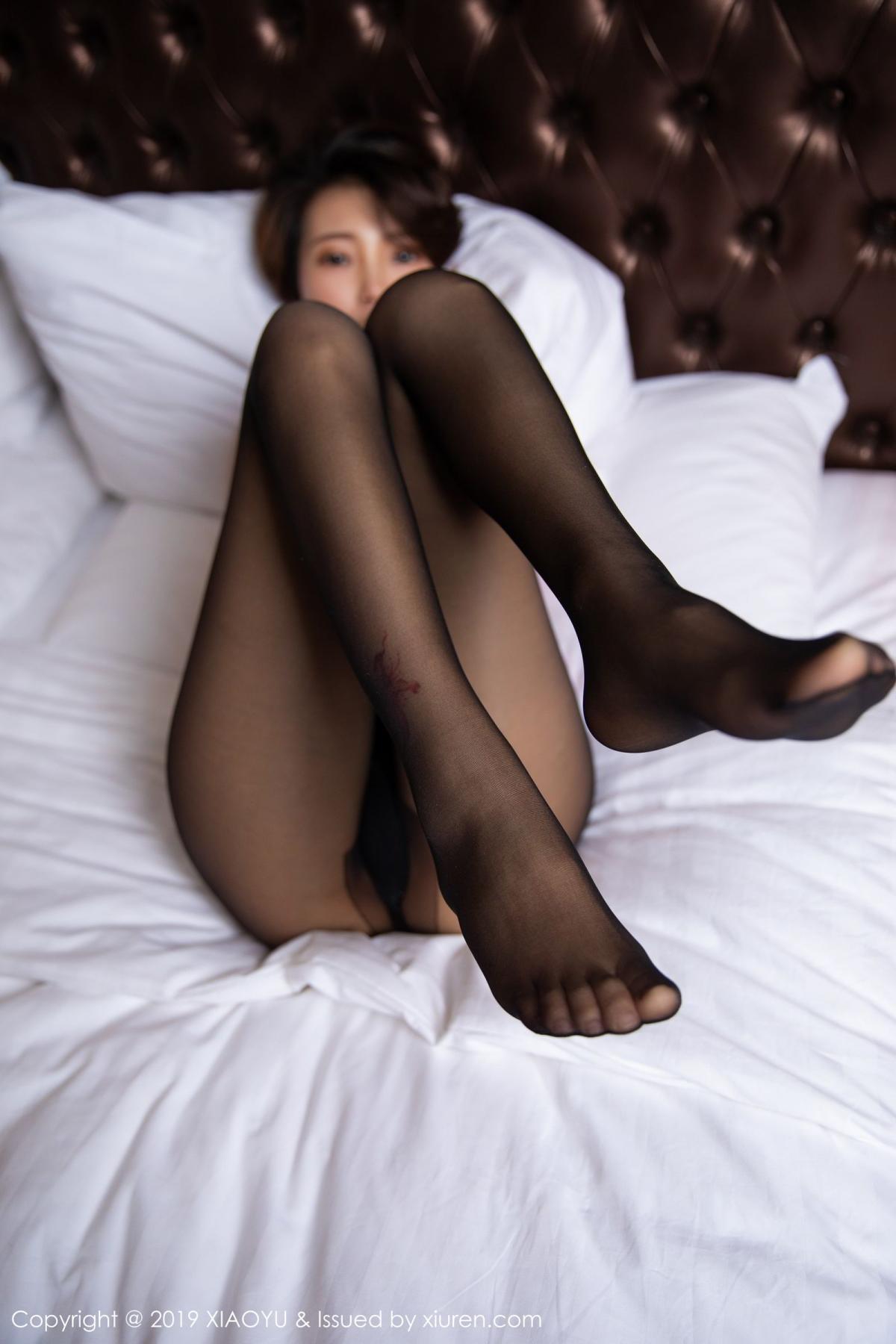 [XiaoYu] Vol.158 Feng Mu Mu 32P, Black Silk, Feng Mu Mu, Tall, Underwear, XiaoYu