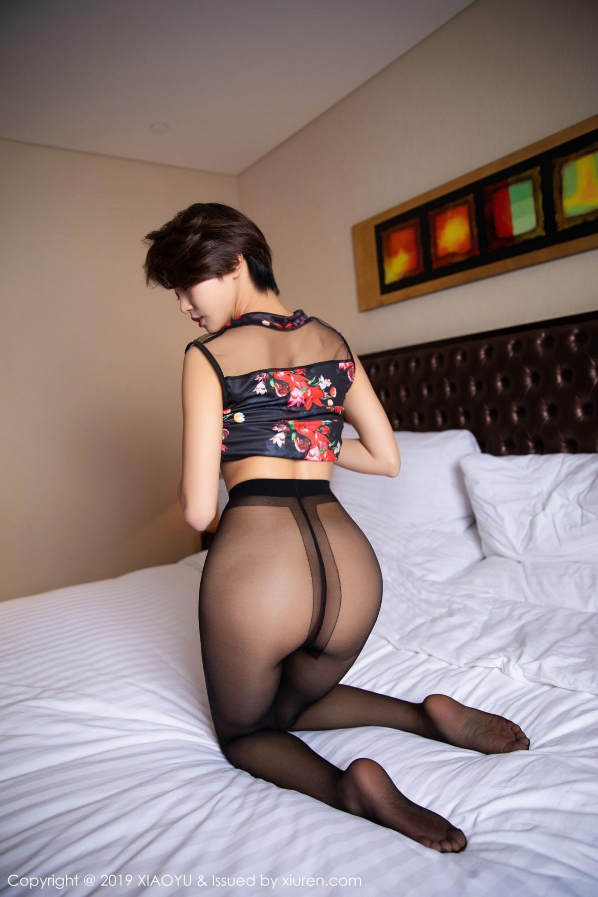 [XiaoYu] Vol.158 Feng Mu Mu 36P, Black Silk, Feng Mu Mu, Tall, Underwear, XiaoYu
