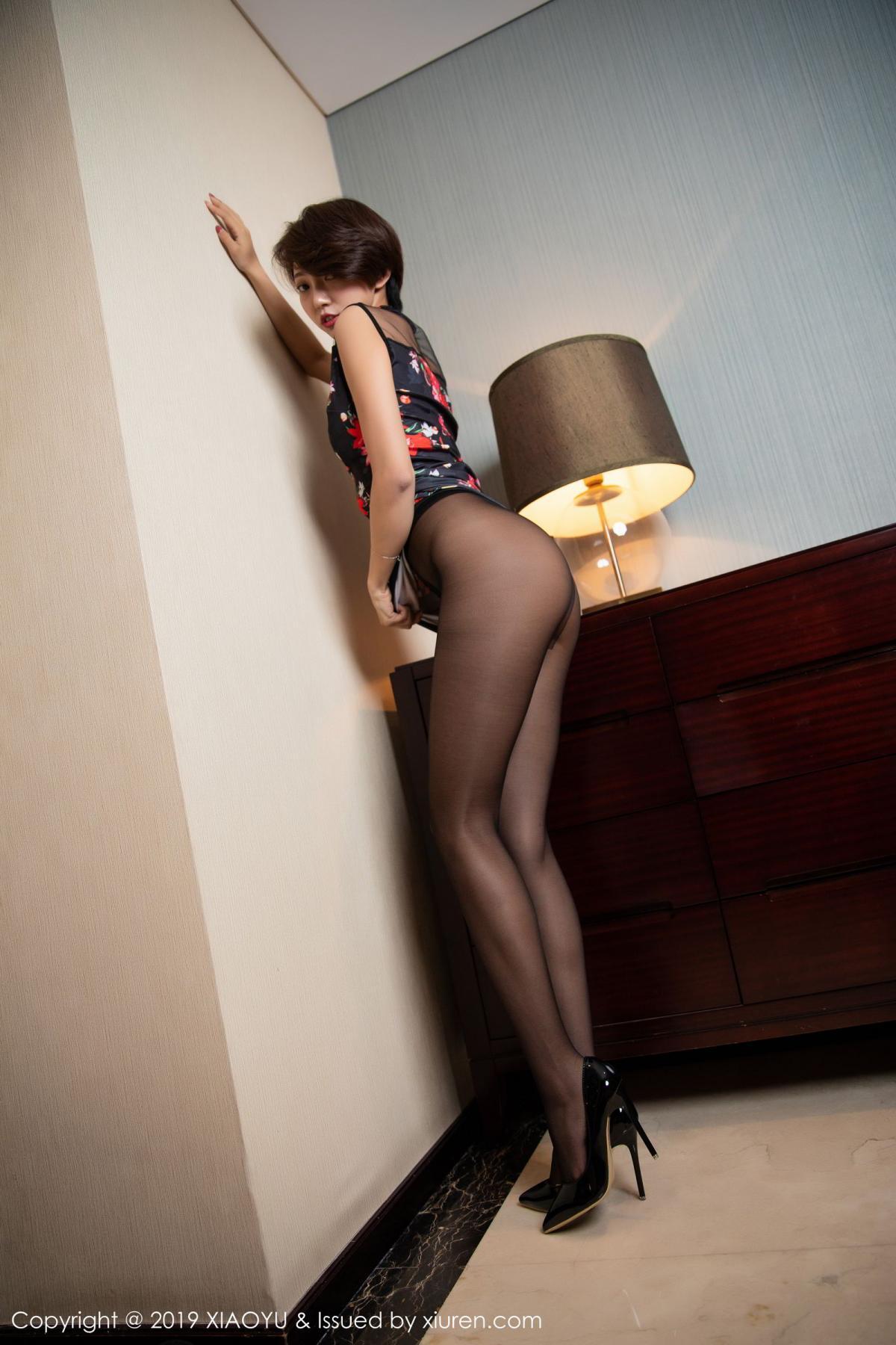 [XiaoYu] Vol.158 Feng Mu Mu 3P, Black Silk, Feng Mu Mu, Tall, Underwear, XiaoYu