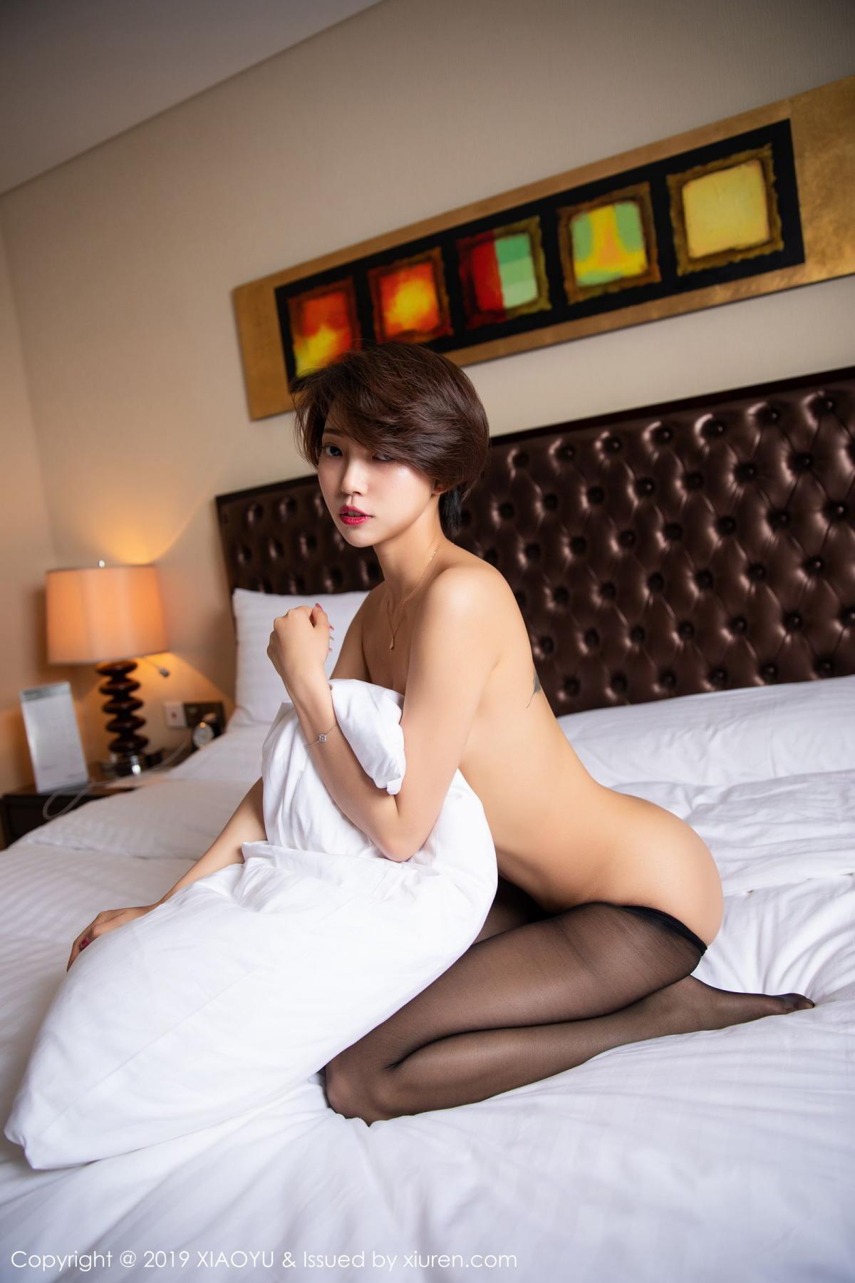 [XiaoYu] Vol.158 Feng Mu Mu 52P, Black Silk, Feng Mu Mu, Tall, Underwear, XiaoYu