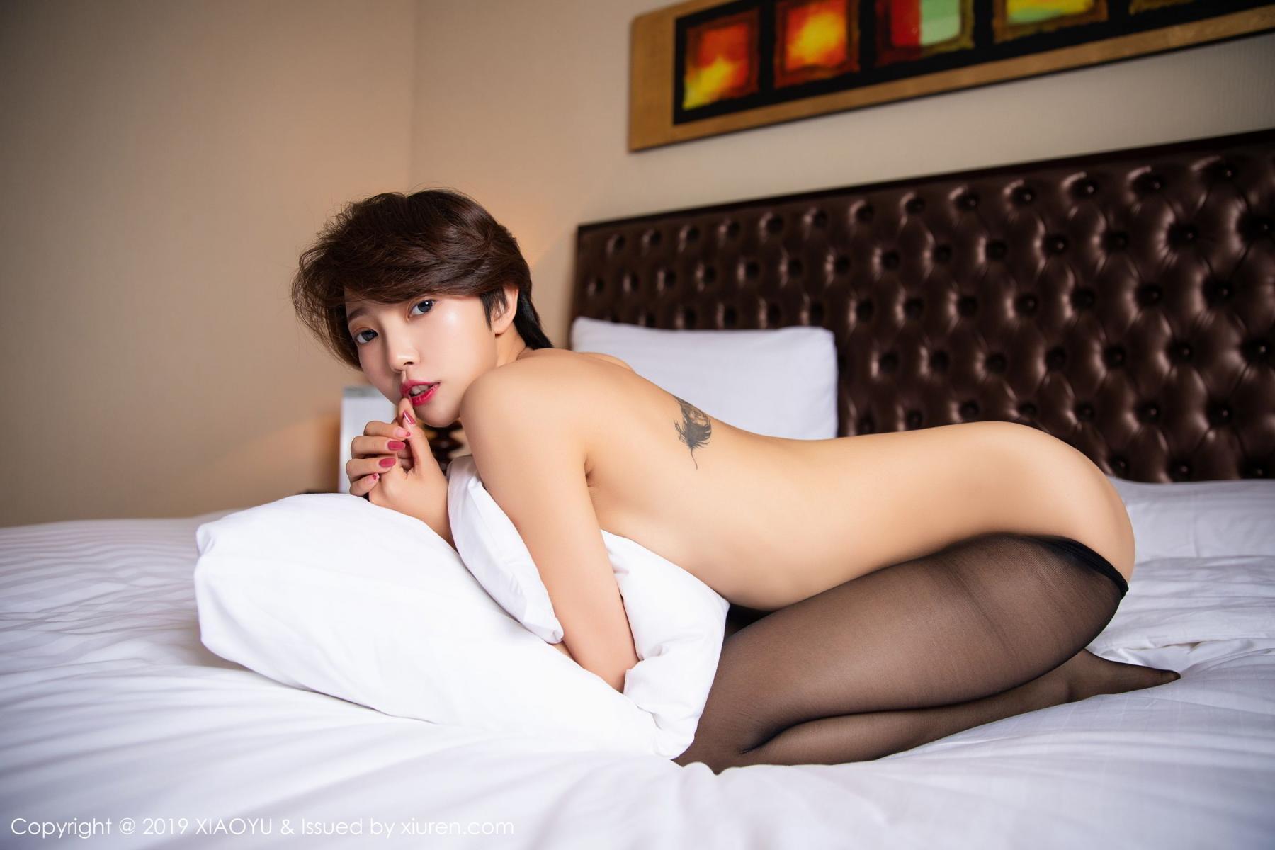 [XiaoYu] Vol.158 Feng Mu Mu 53P, Black Silk, Feng Mu Mu, Tall, Underwear, XiaoYu