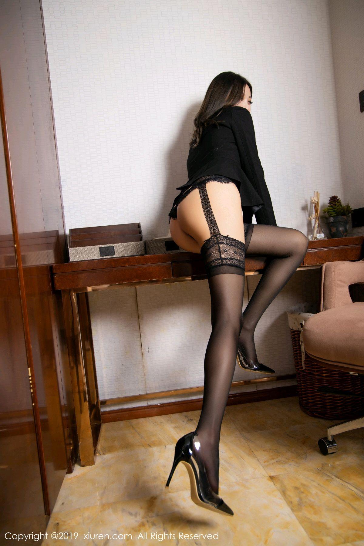 [XiaoYu] Vol.1633 Yang Chen Chen 18P, Black Silk, Tall, Uniform, XiaoYu, Yang Chen Chen