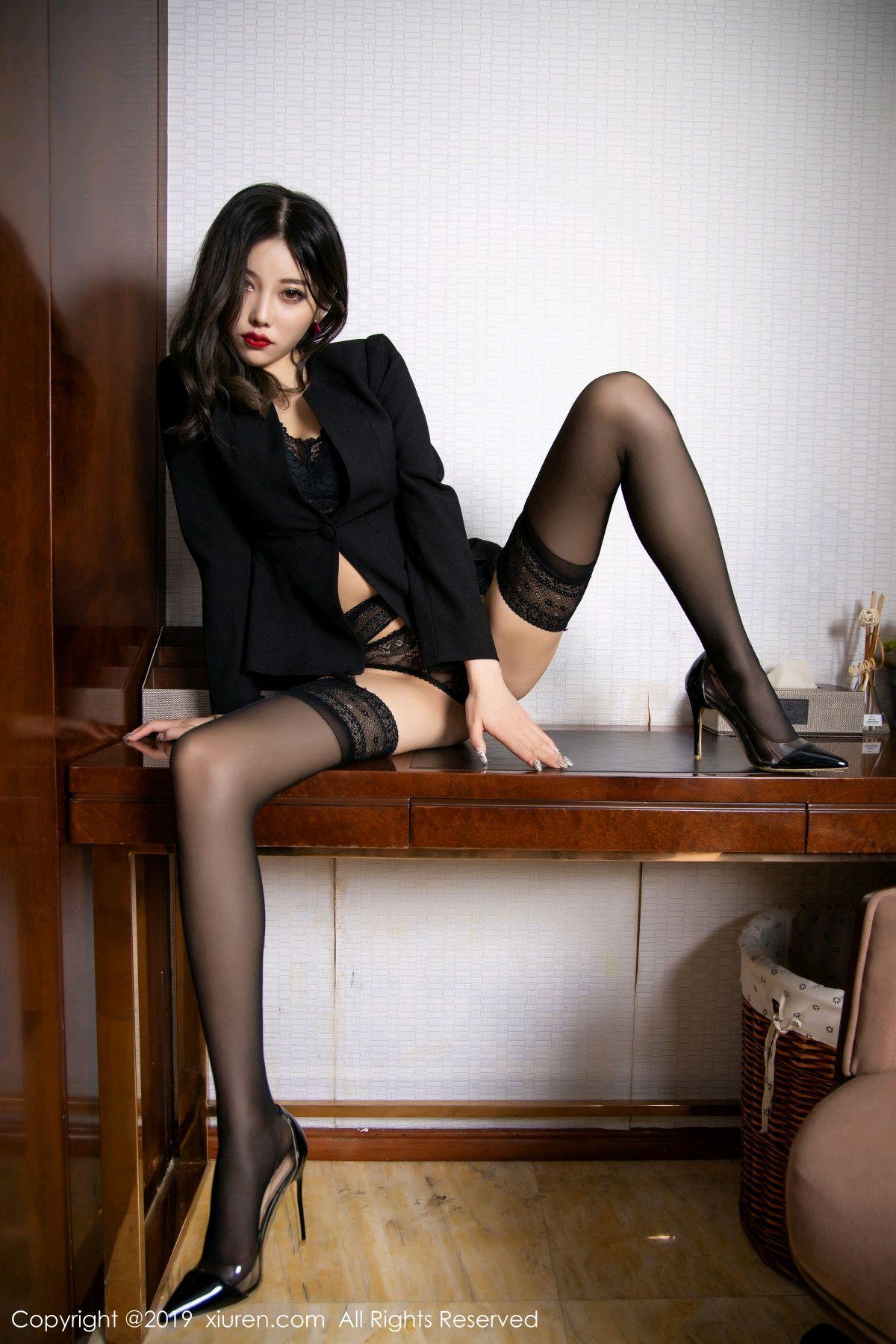 [XiaoYu] Vol.1633 Yang Chen Chen 40P, Black Silk, Tall, Uniform, XiaoYu, Yang Chen Chen