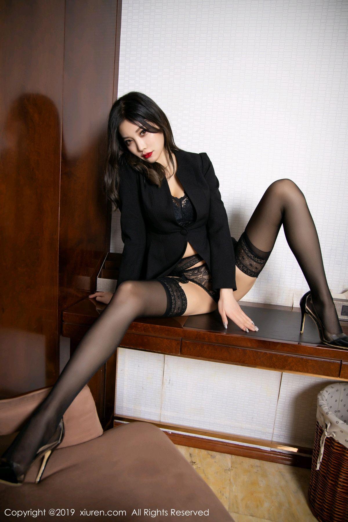 [XiaoYu] Vol.1633 Yang Chen Chen 41P, Black Silk, Tall, Uniform, XiaoYu, Yang Chen Chen