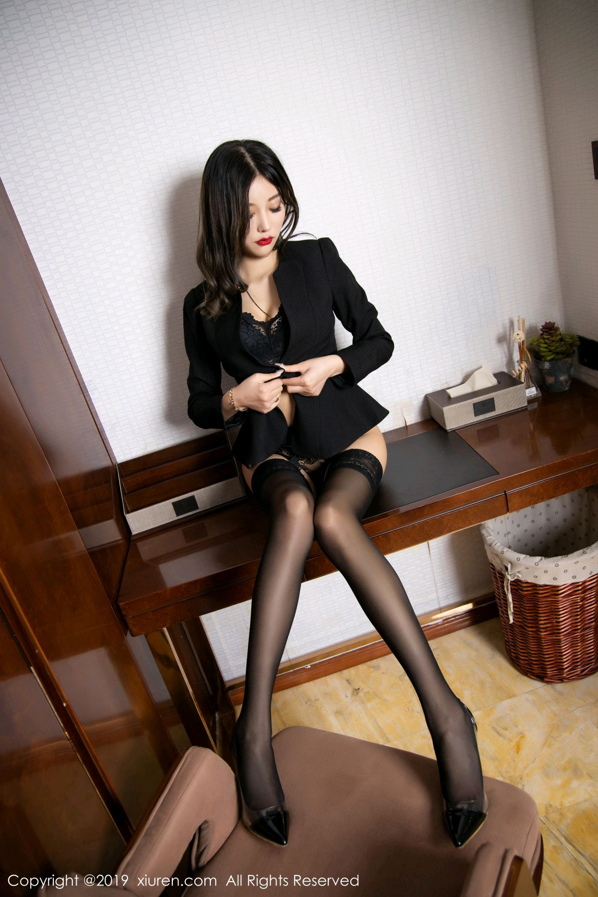 [XiaoYu] Vol.1633 Yang Chen Chen 42P, Black Silk, Tall, Uniform, XiaoYu, Yang Chen Chen