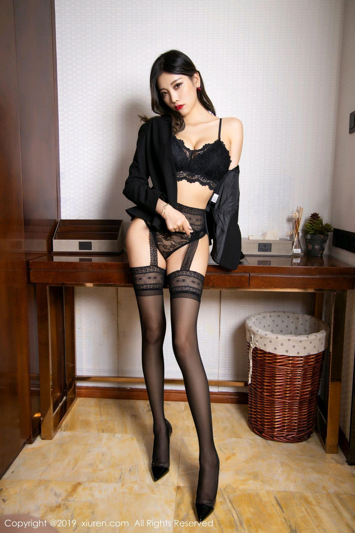 [XiaoYu] Vol.1633 Yang Chen Chen 47P, Black Silk, Tall, Uniform, XiaoYu, Yang Chen Chen