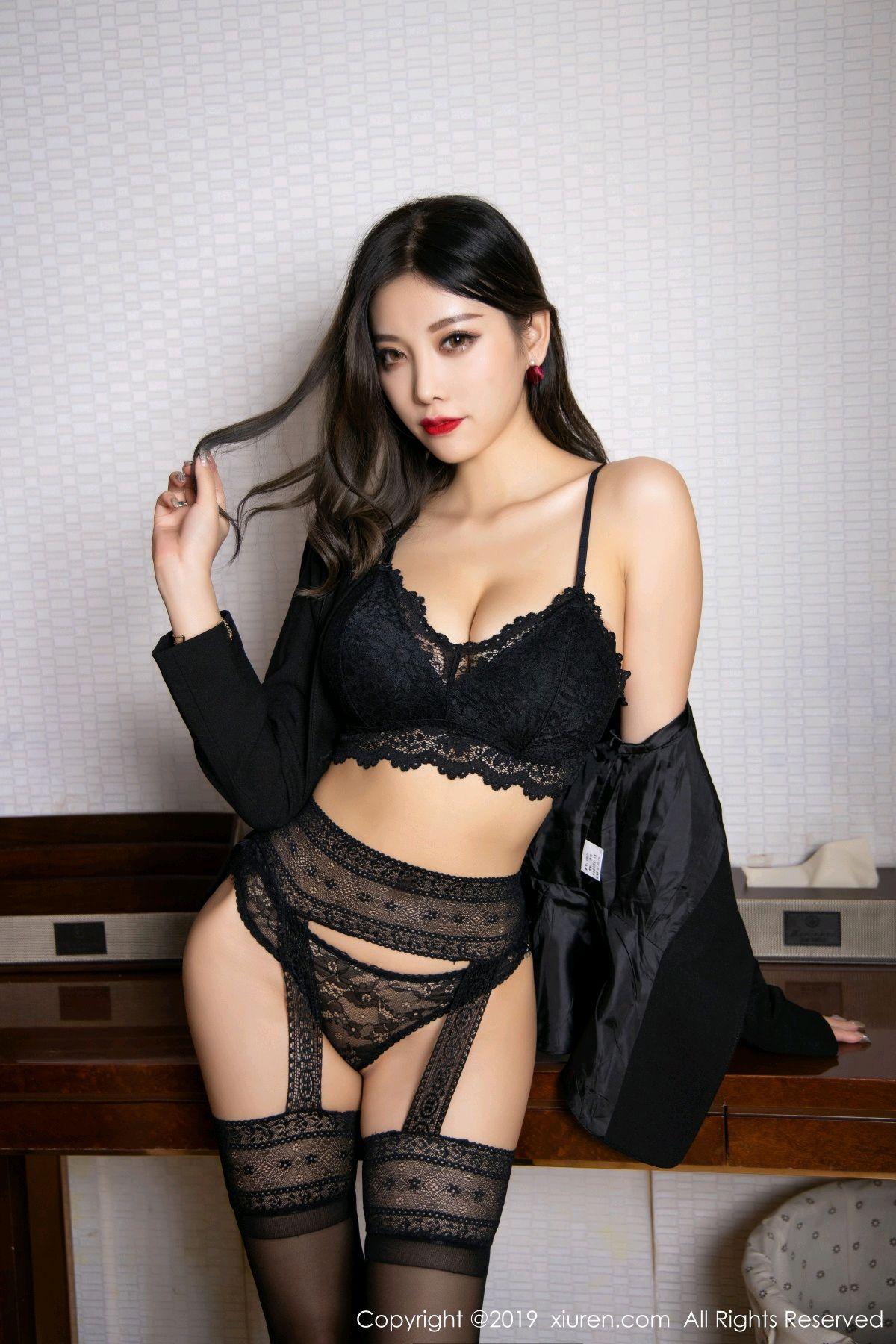 [XiaoYu] Vol.1633 Yang Chen Chen 48P, Black Silk, Tall, Uniform, XiaoYu, Yang Chen Chen
