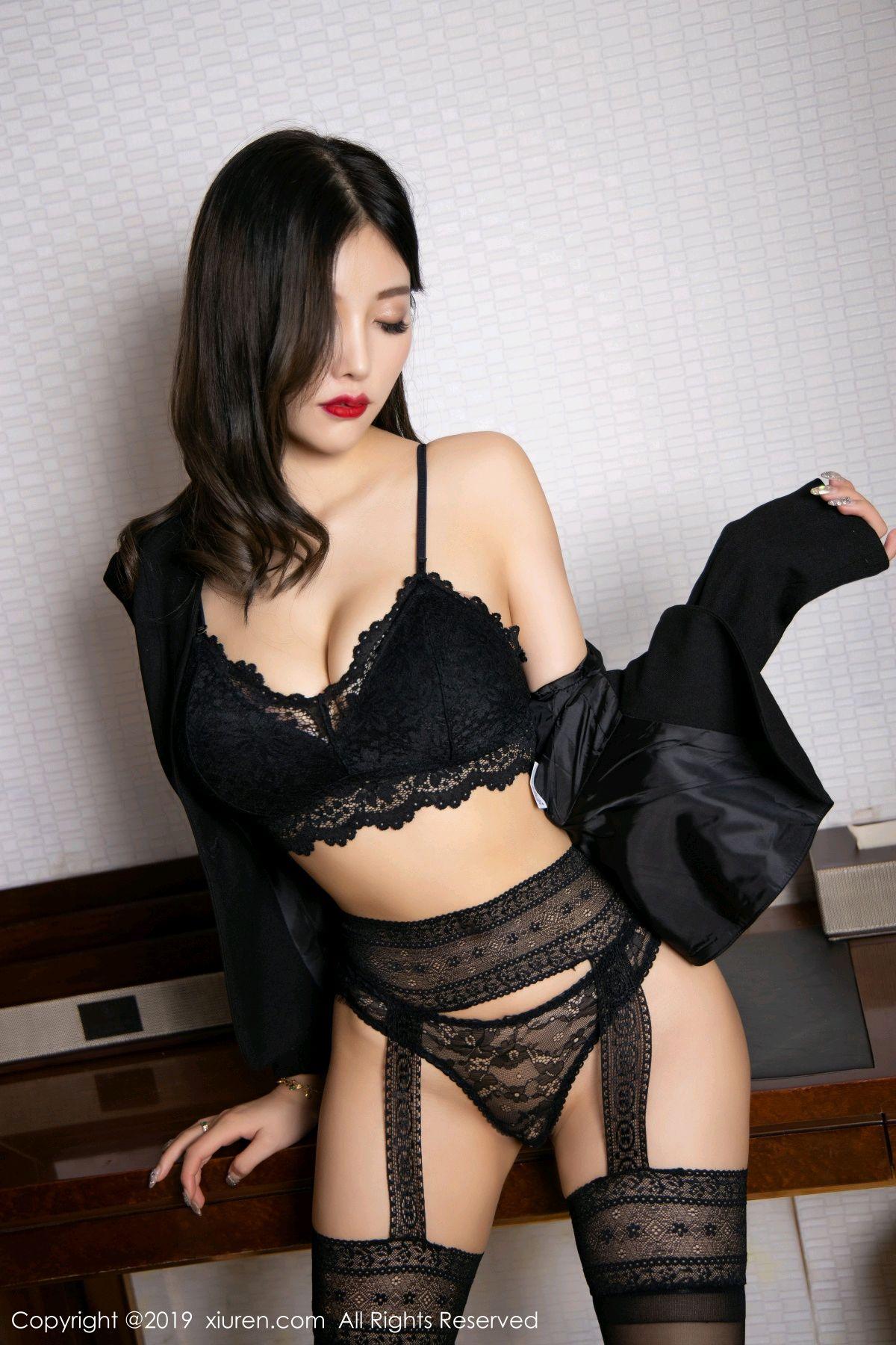 [XiaoYu] Vol.1633 Yang Chen Chen 49P, Black Silk, Tall, Uniform, XiaoYu, Yang Chen Chen