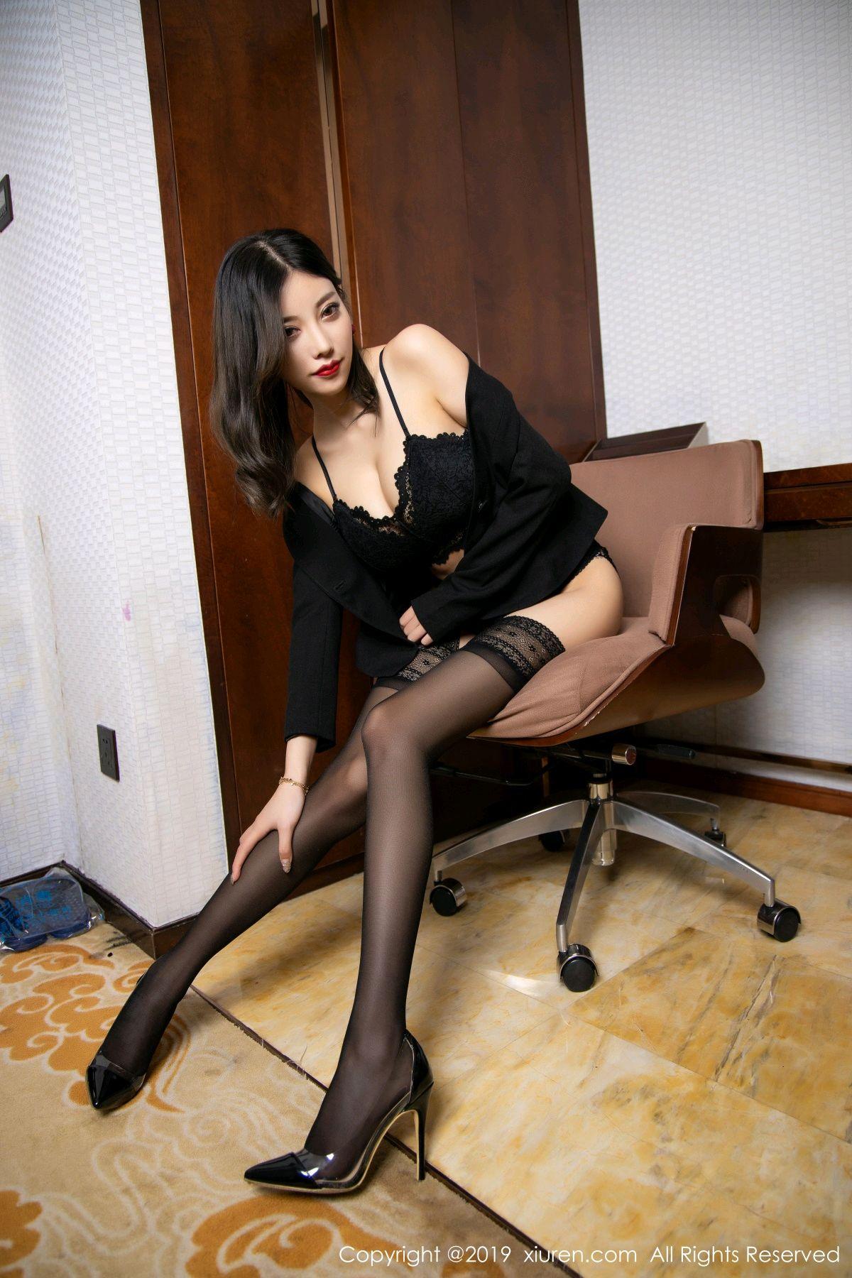 [XiaoYu] Vol.1633 Yang Chen Chen 52P, Black Silk, Tall, Uniform, XiaoYu, Yang Chen Chen