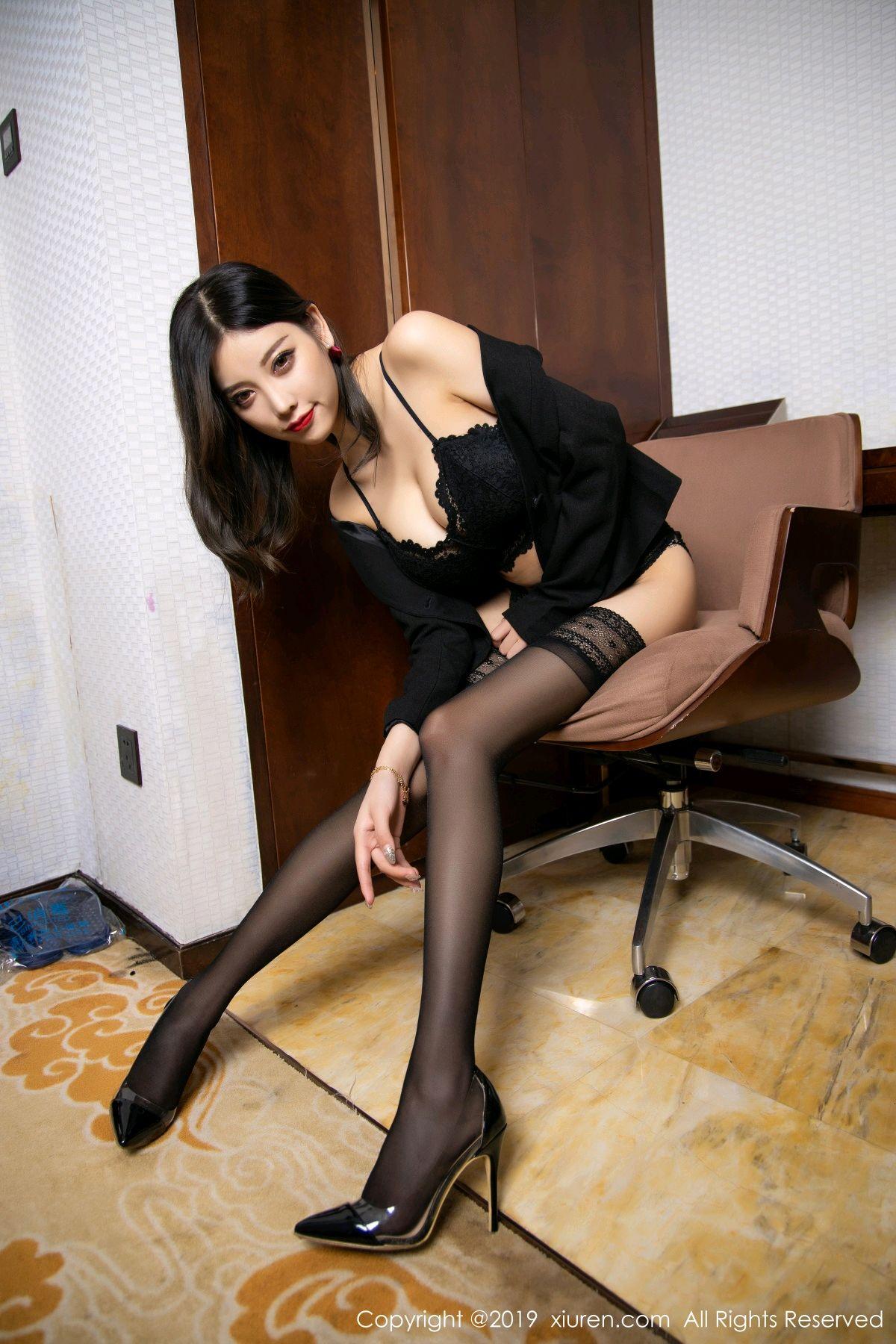[XiaoYu] Vol.1633 Yang Chen Chen 53P, Black Silk, Tall, Uniform, XiaoYu, Yang Chen Chen