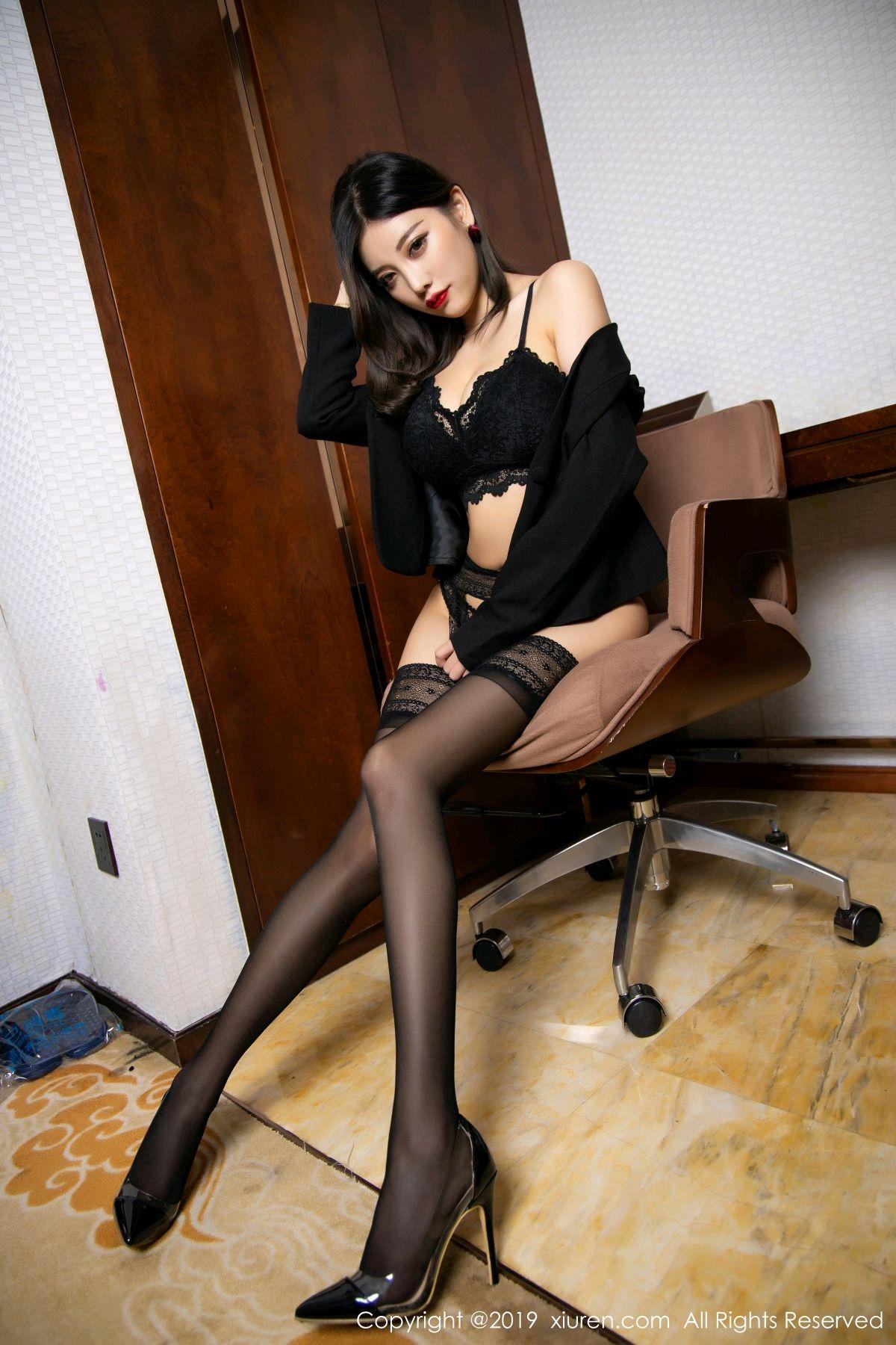 [XiaoYu] Vol.1633 Yang Chen Chen 54P, Black Silk, Tall, Uniform, XiaoYu, Yang Chen Chen