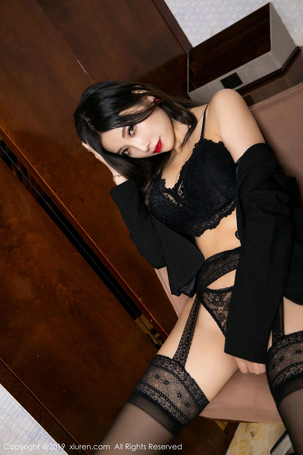 [XiaoYu] Vol.1633 Yang Chen Chen 57P, Black Silk, Tall, Uniform, XiaoYu, Yang Chen Chen
