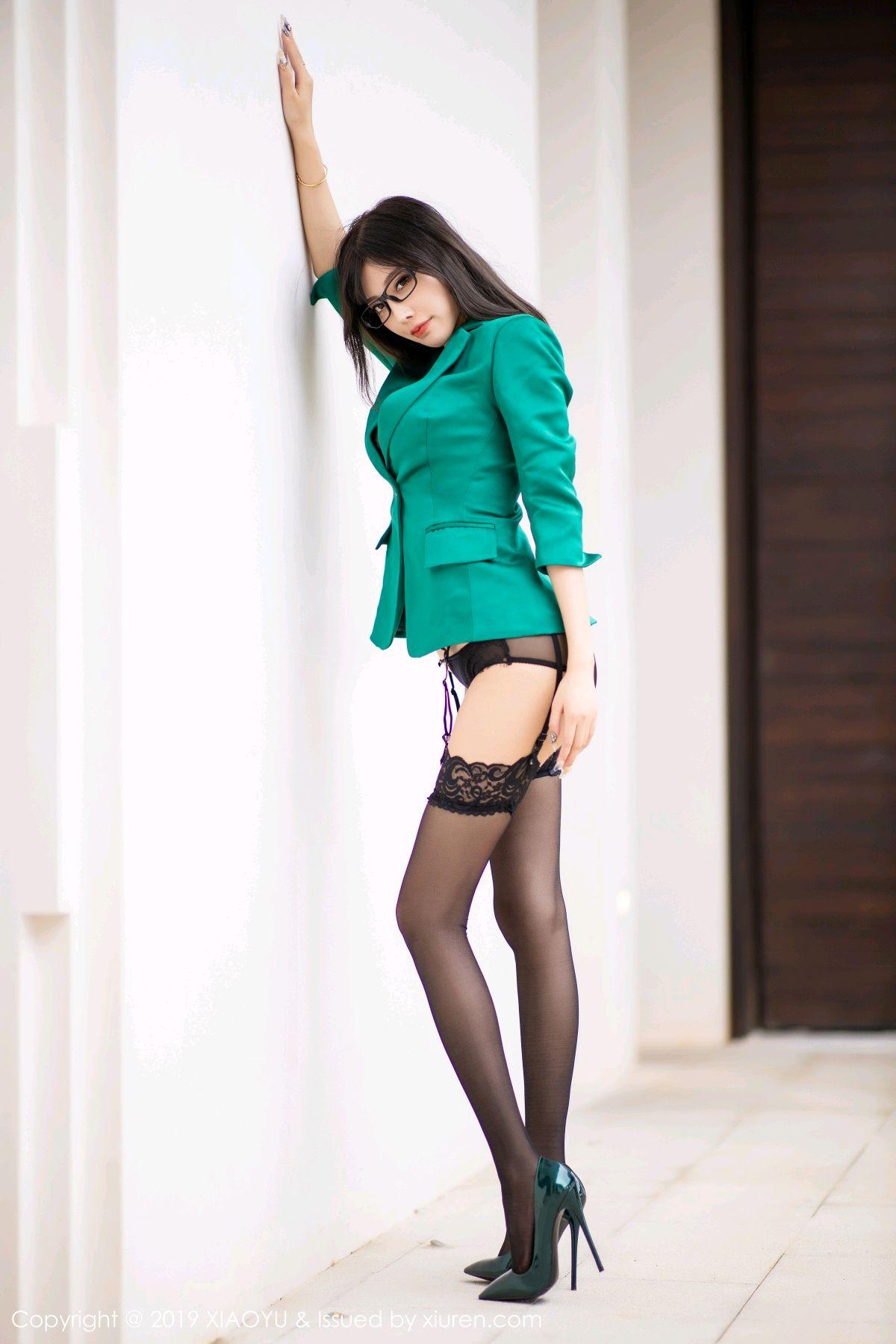 [XiaoYu] Vol.164 Yang Chen Chen 12P, Black Silk, Tall, XiaoYu, Yang Chen Chen