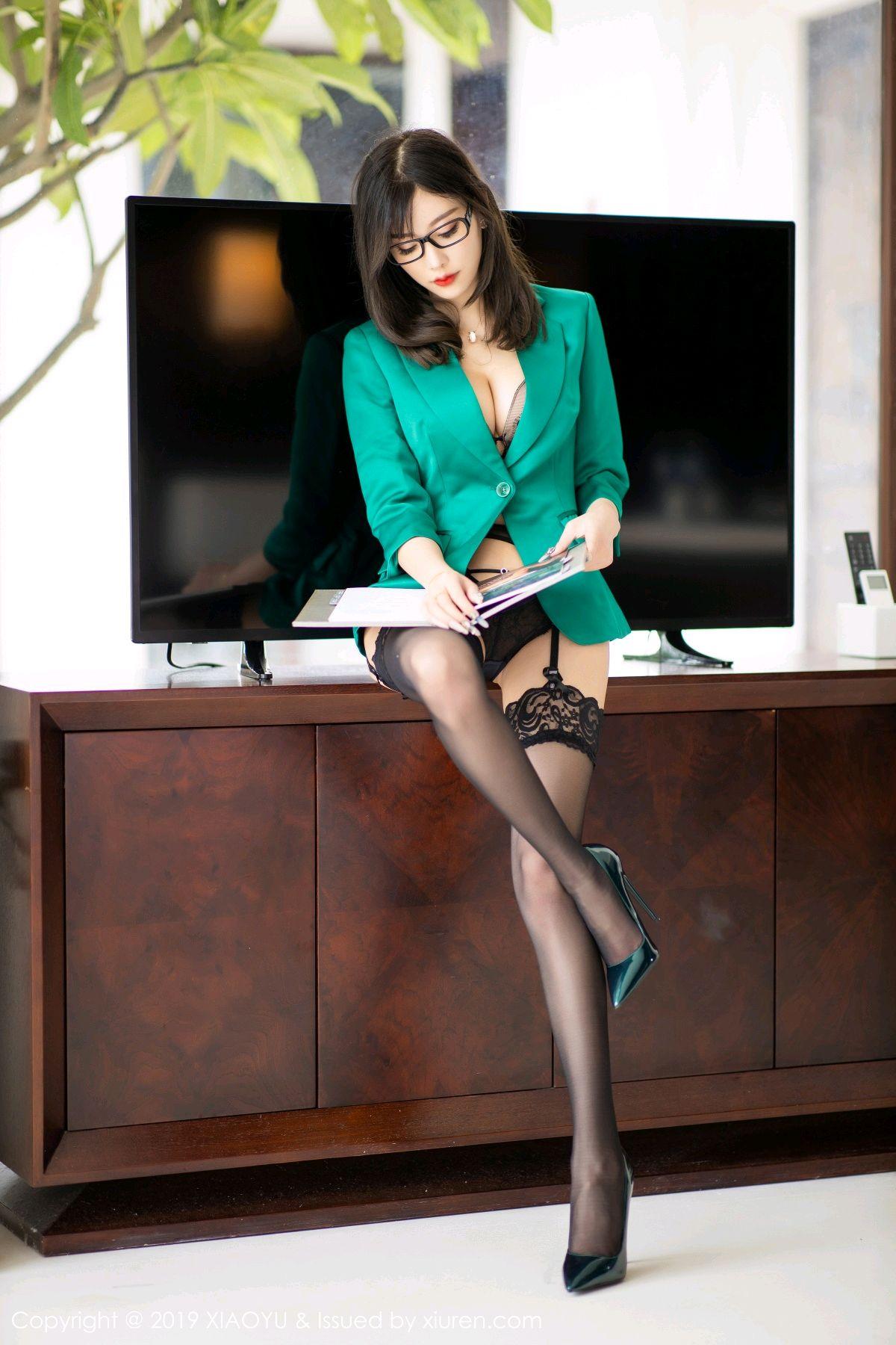 [XiaoYu] Vol.164 Yang Chen Chen 25P, Black Silk, Tall, XiaoYu, Yang Chen Chen