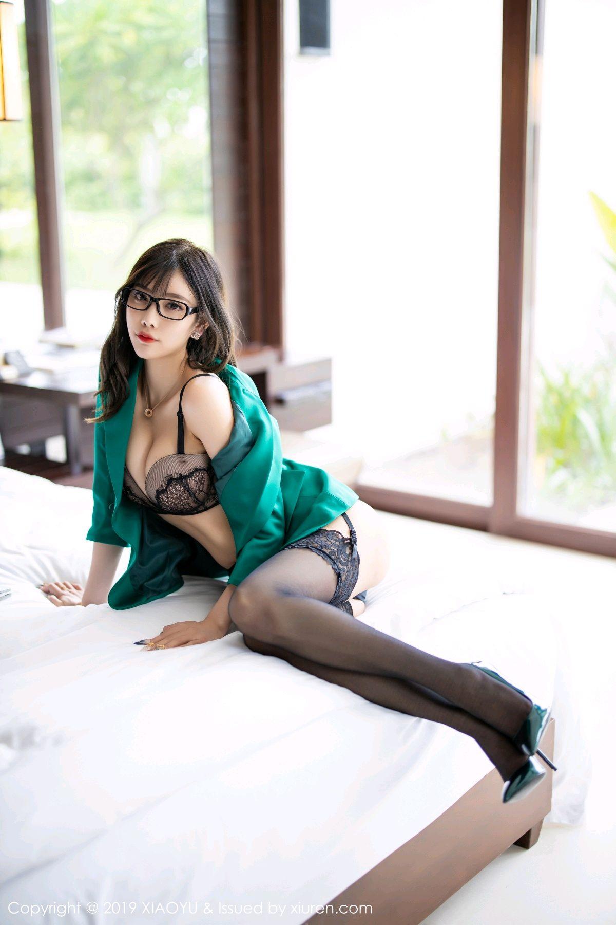 [XiaoYu] Vol.164 Yang Chen Chen 51P, Black Silk, Tall, XiaoYu, Yang Chen Chen
