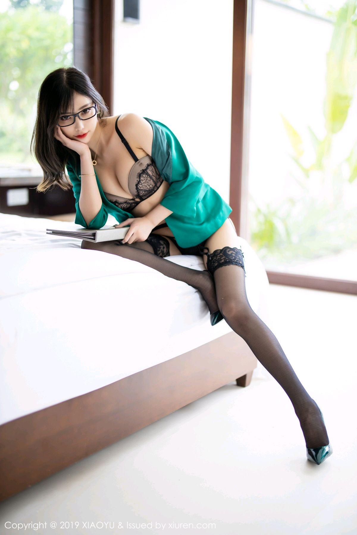 [XiaoYu] Vol.164 Yang Chen Chen 55P, Black Silk, Tall, XiaoYu, Yang Chen Chen
