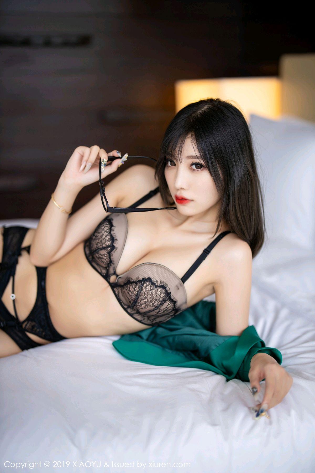 [XiaoYu] Vol.164 Yang Chen Chen 70P, Black Silk, Tall, XiaoYu, Yang Chen Chen