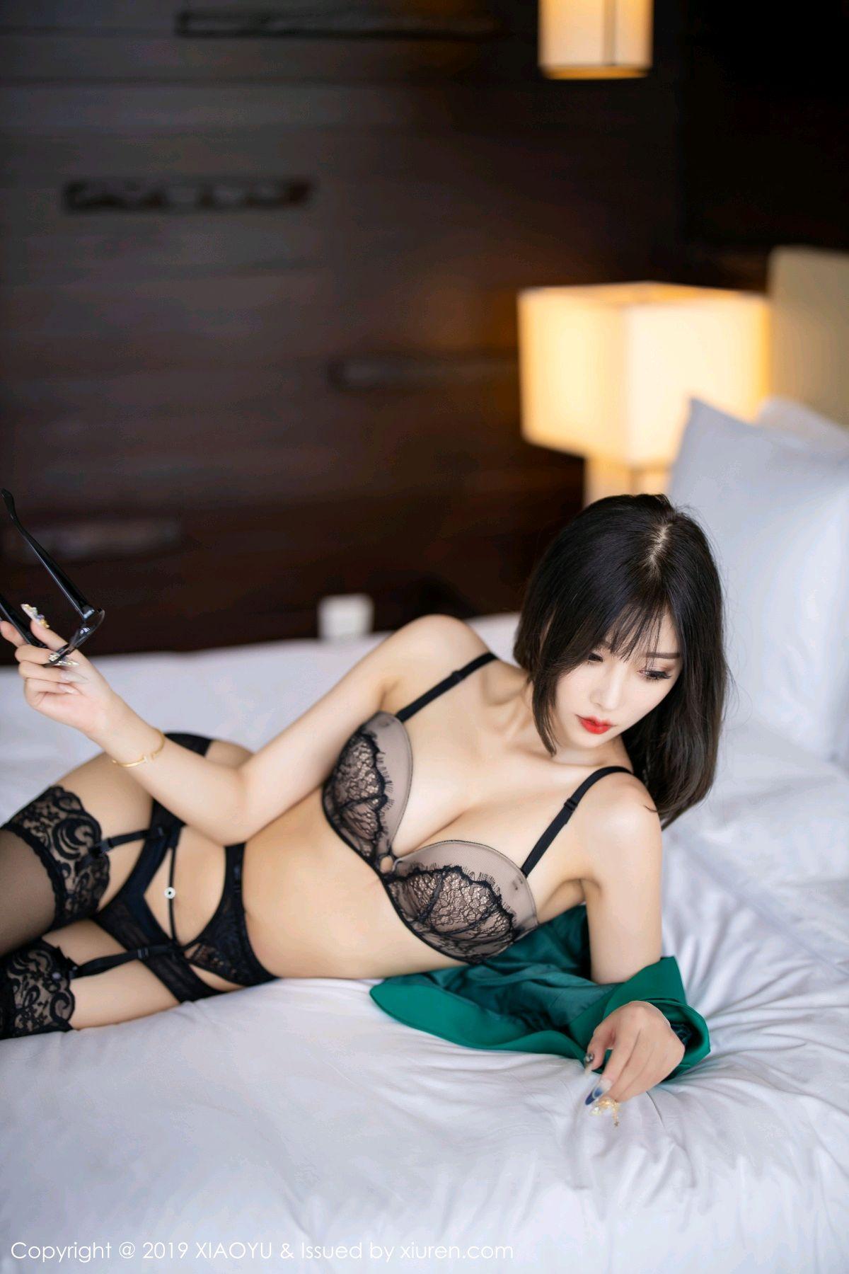 [XiaoYu] Vol.164 Yang Chen Chen 71P, Black Silk, Tall, XiaoYu, Yang Chen Chen