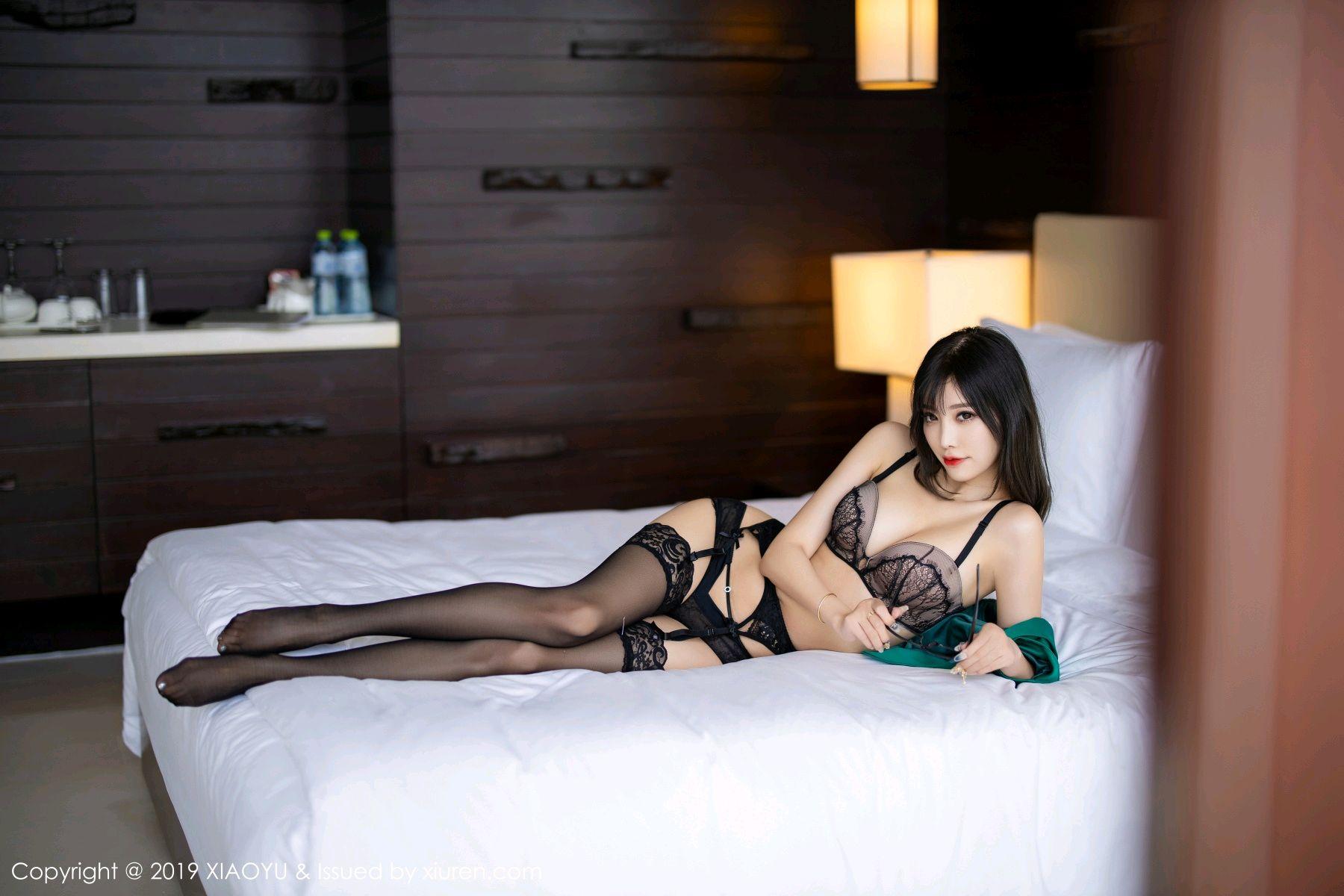 [XiaoYu] Vol.164 Yang Chen Chen 73P, Black Silk, Tall, XiaoYu, Yang Chen Chen