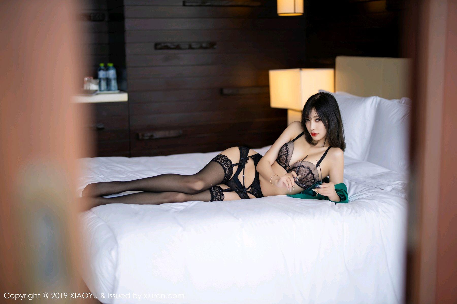 [XiaoYu] Vol.164 Yang Chen Chen 74P, Black Silk, Tall, XiaoYu, Yang Chen Chen