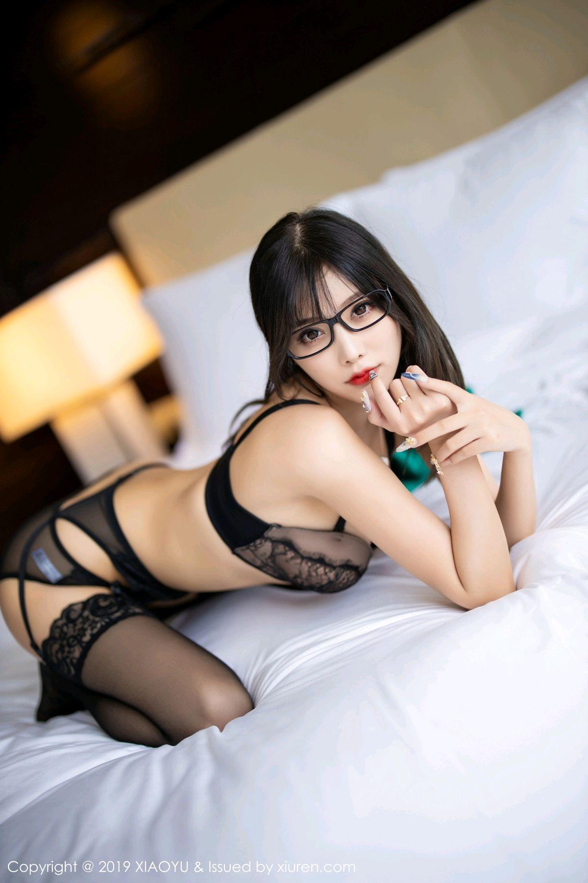 [XiaoYu] Vol.164 Yang Chen Chen 89P, Black Silk, Tall, XiaoYu, Yang Chen Chen