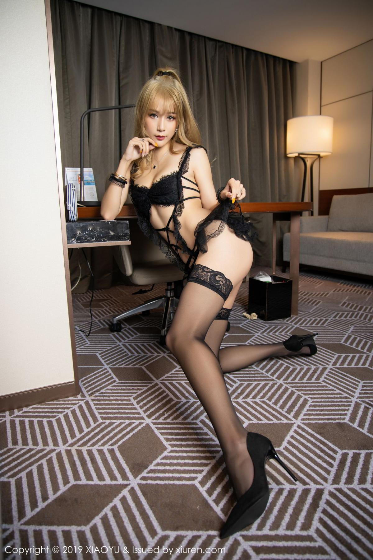 [XiaoYu] Vol.165 Feng Xi Wen 12P, Black Silk, Feng Xi Wen, Tall, Underwear, XiaoYu