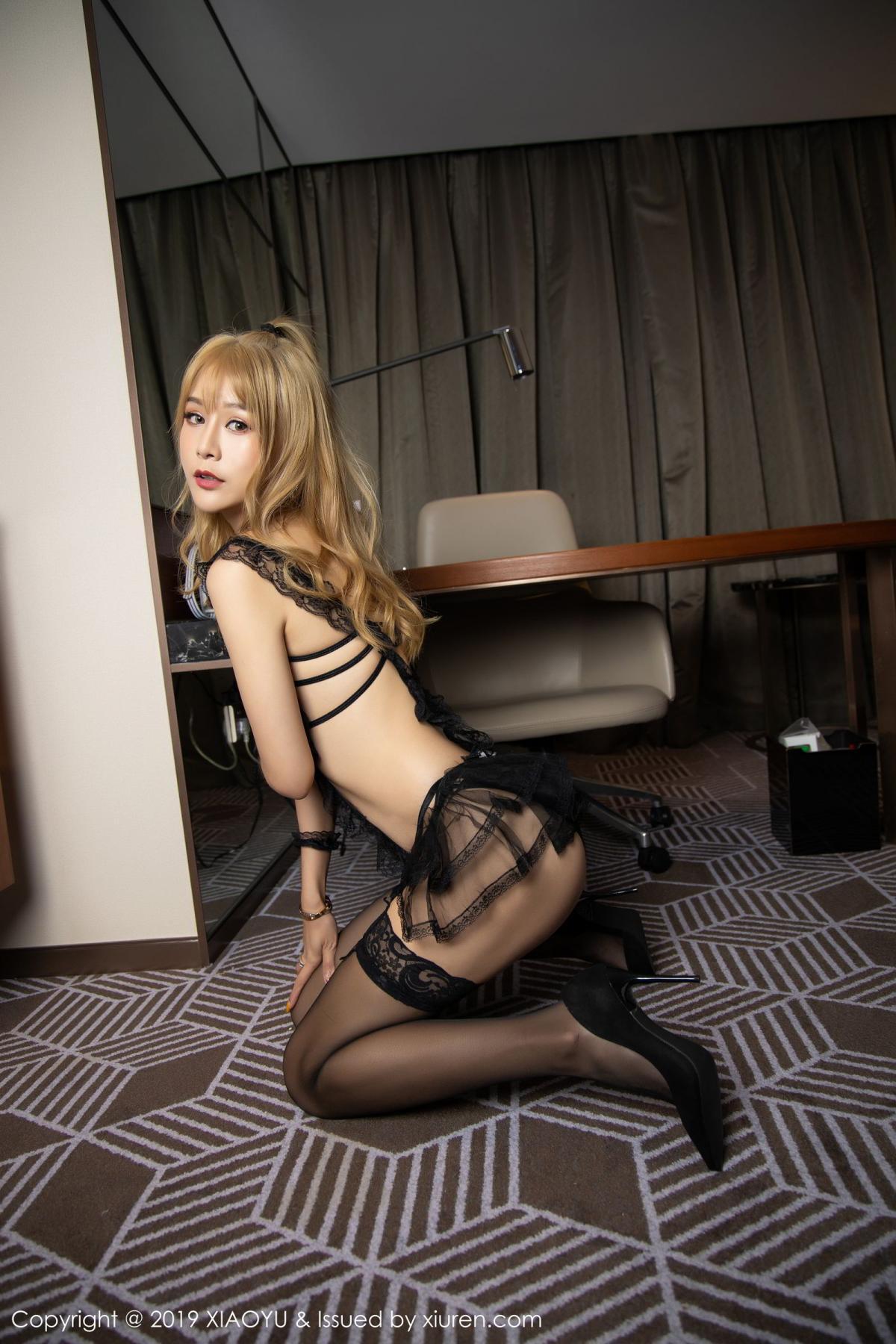 [XiaoYu] Vol.165 Feng Xi Wen 22P, Black Silk, Feng Xi Wen, Tall, Underwear, XiaoYu