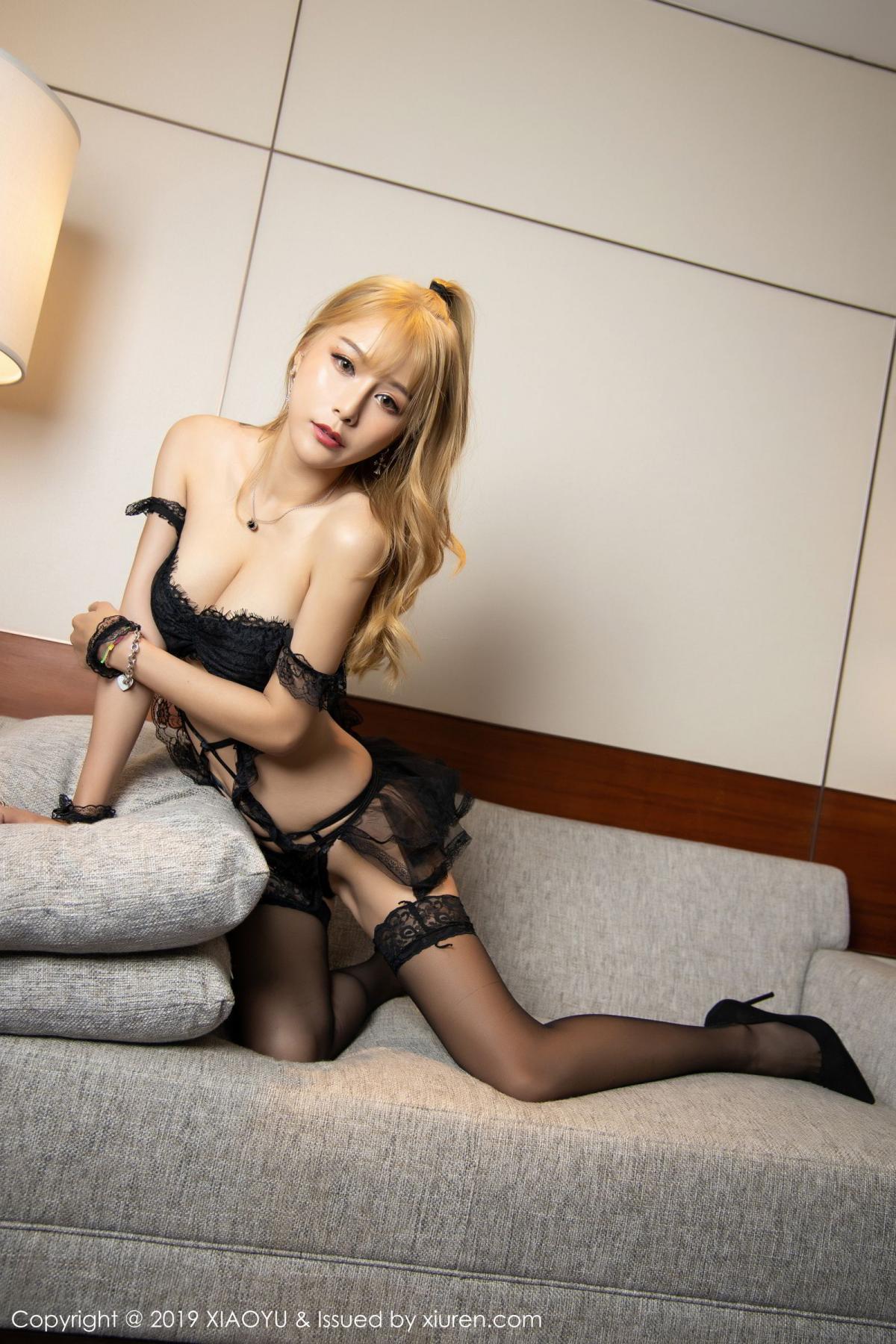 [XiaoYu] Vol.165 Feng Xi Wen 32P, Black Silk, Feng Xi Wen, Tall, Underwear, XiaoYu