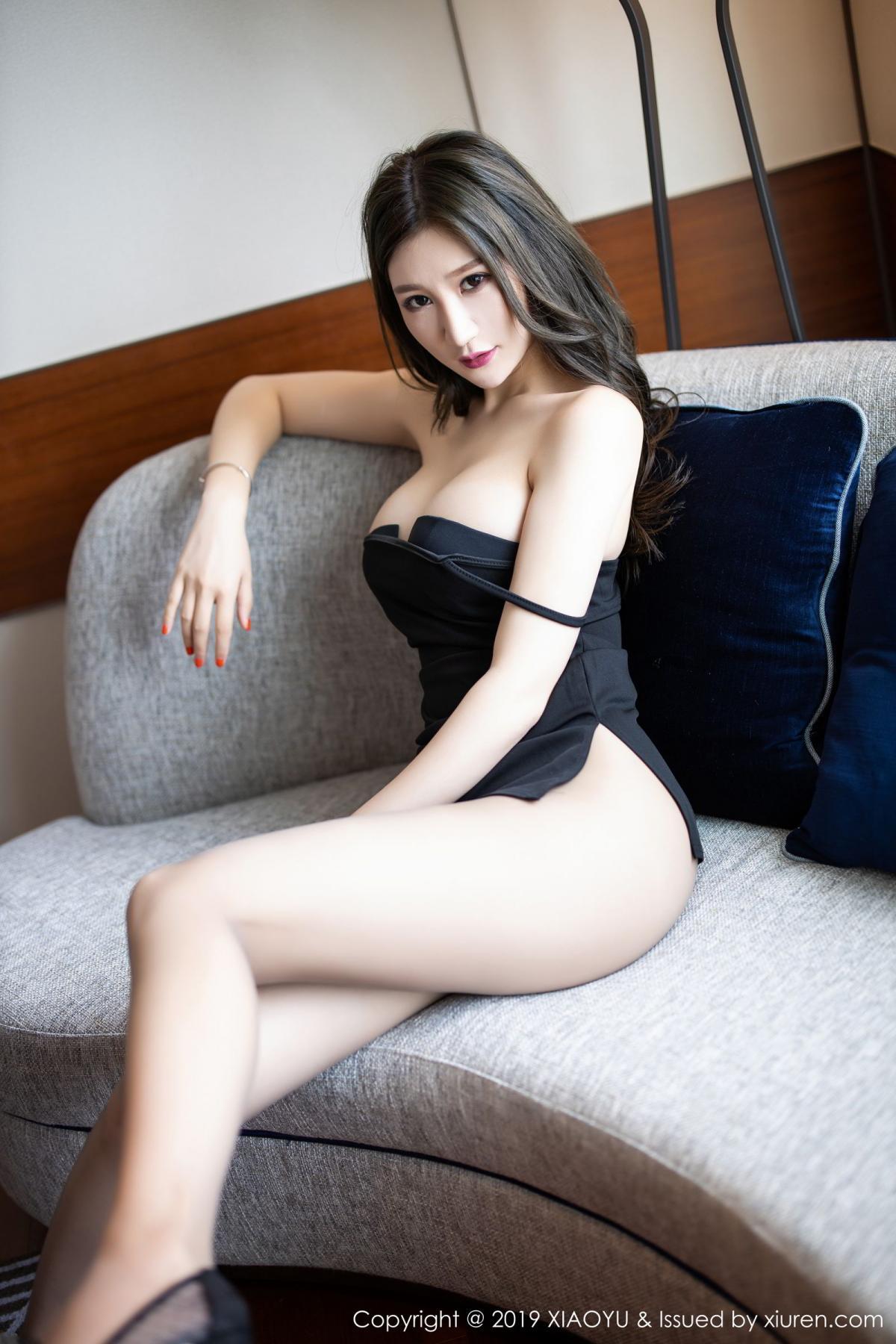 [XiaoYu] Vol.171 Xuan Zi 17P, Black Silk, Tall, XiaoYu, Xuan Zi