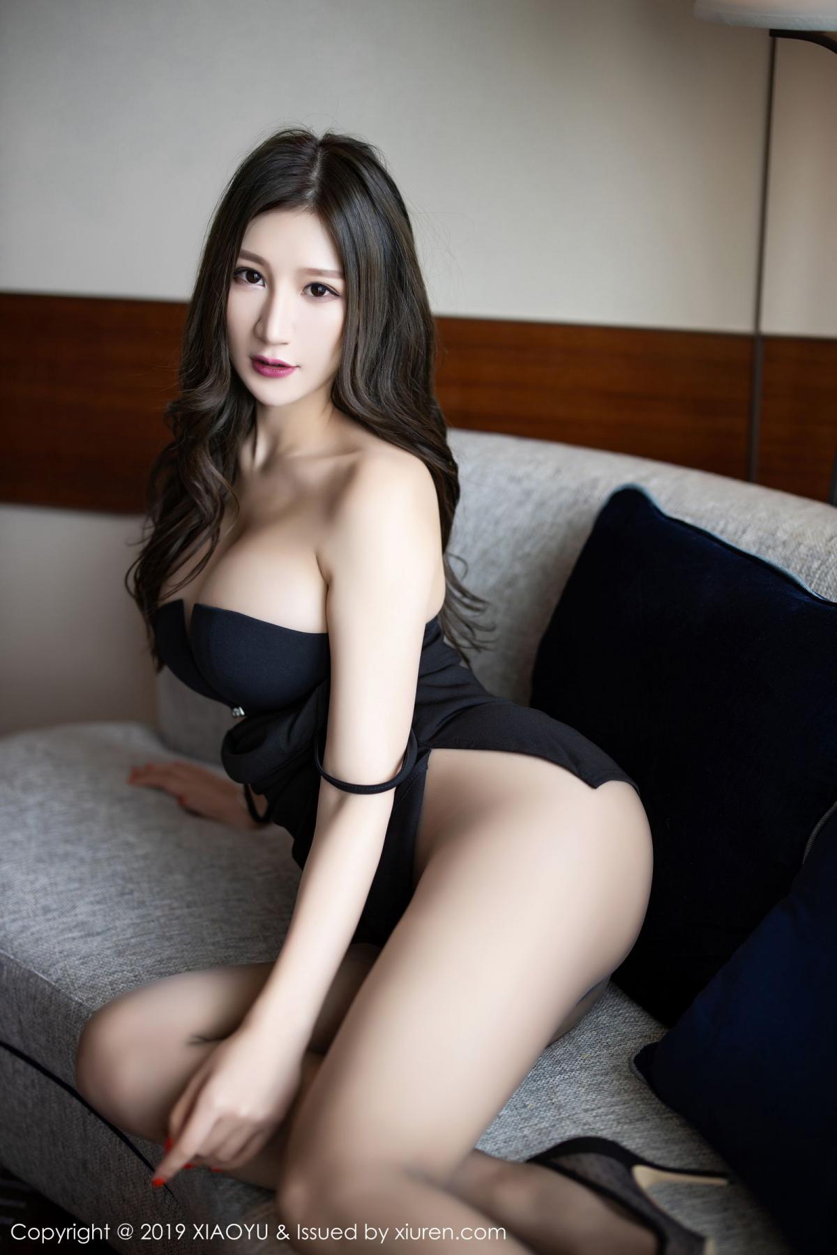 [XiaoYu] Vol.171 Xuan Zi 19P, Black Silk, Tall, XiaoYu, Xuan Zi