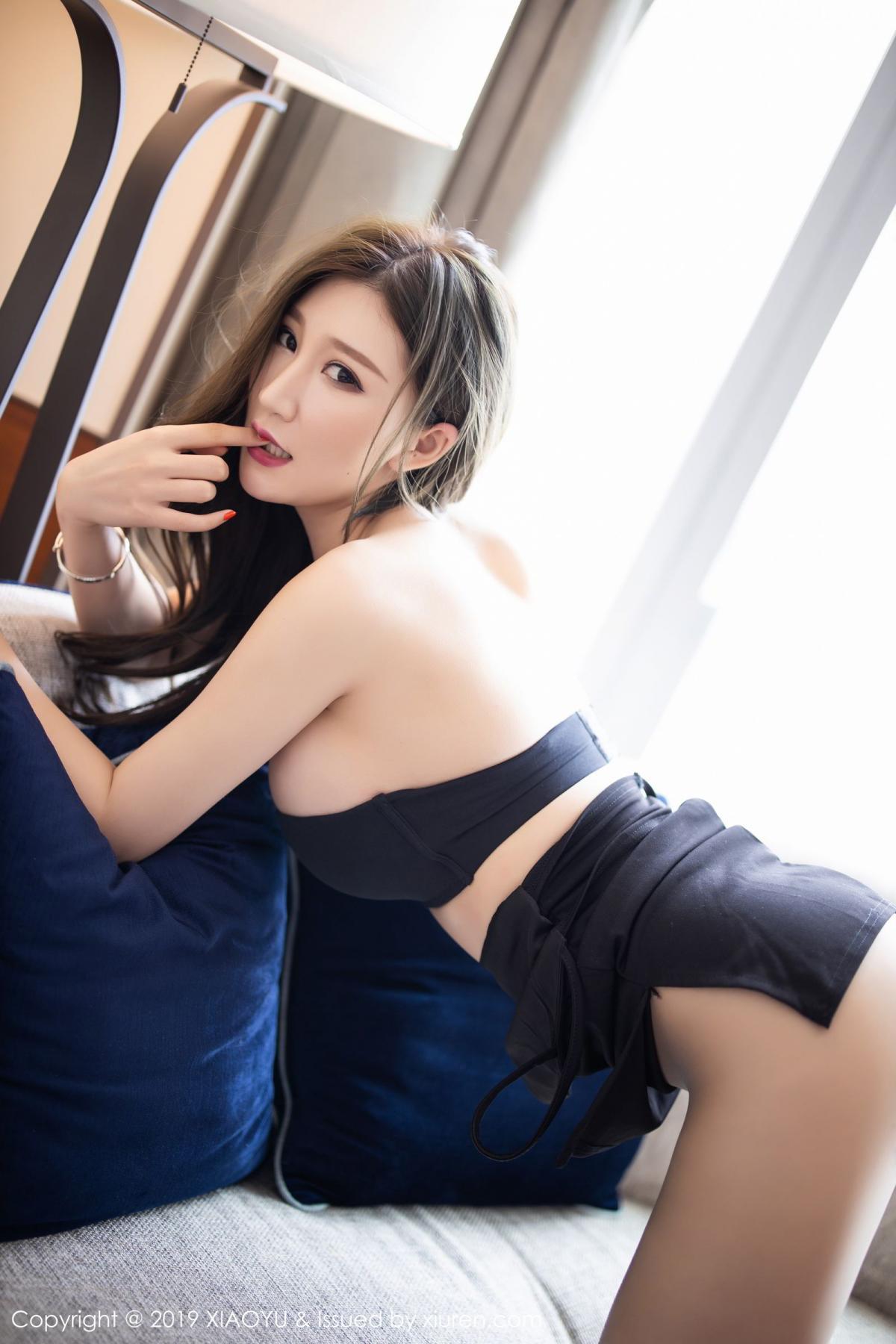 [XiaoYu] Vol.171 Xuan Zi 42P, Black Silk, Tall, XiaoYu, Xuan Zi