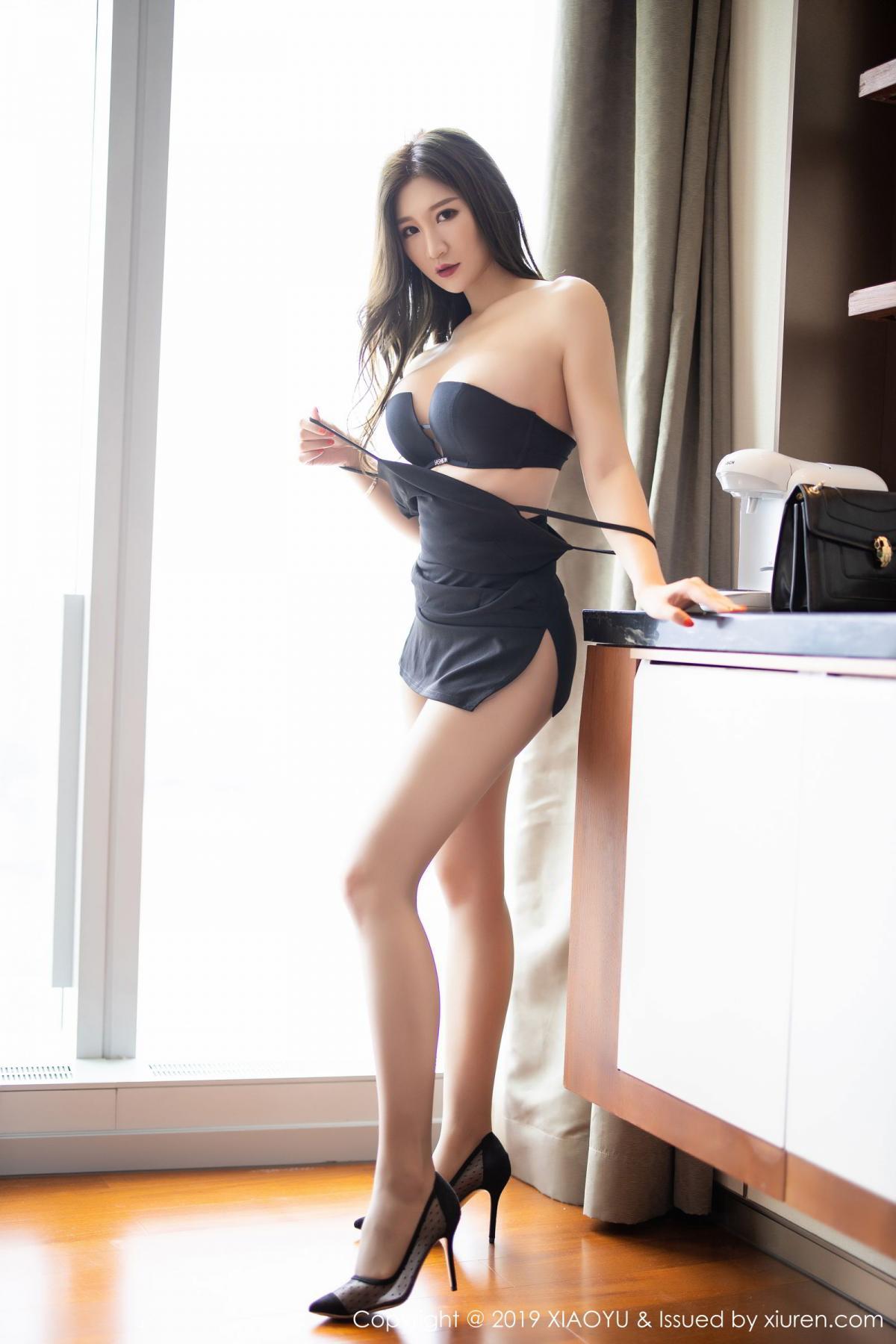 [XiaoYu] Vol.171 Xuan Zi 43P, Black Silk, Tall, XiaoYu, Xuan Zi