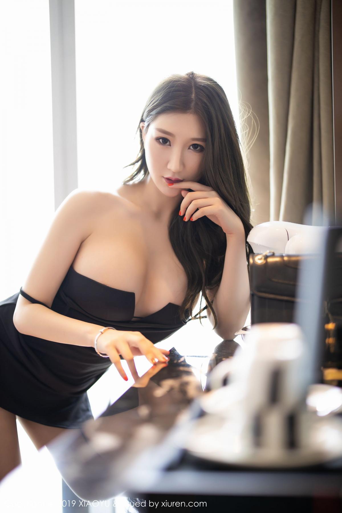 [XiaoYu] Vol.171 Xuan Zi 44P, Black Silk, Tall, XiaoYu, Xuan Zi