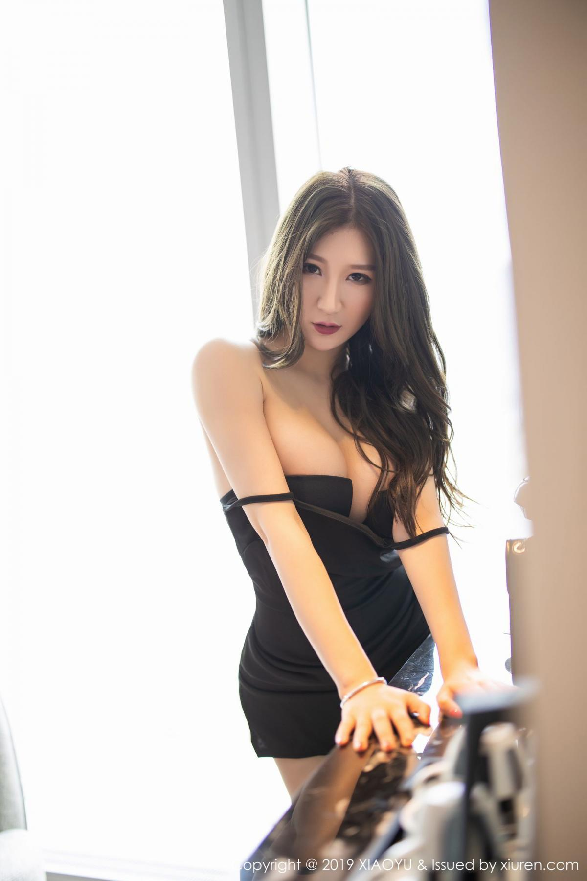 [XiaoYu] Vol.171 Xuan Zi 48P, Black Silk, Tall, XiaoYu, Xuan Zi