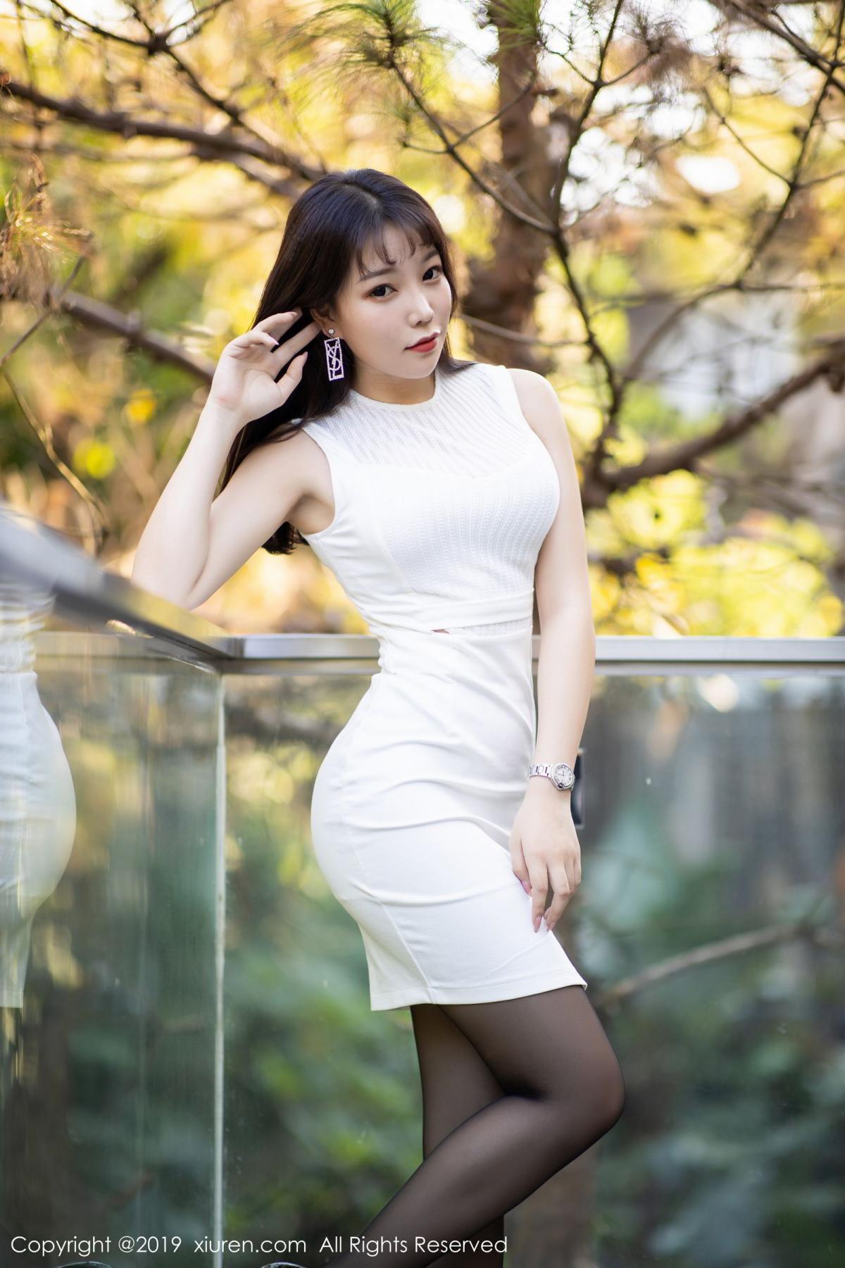 [XiaoYu] Vol.1714 Chen Zhi 14P, Big Booty, Black Silk, Chen Zhi, Underwear, XiaoYu