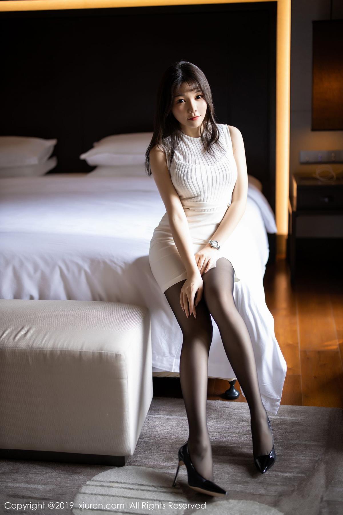 [XiaoYu] Vol.1714 Chen Zhi 20P, Big Booty, Black Silk, Chen Zhi, Underwear, XiaoYu